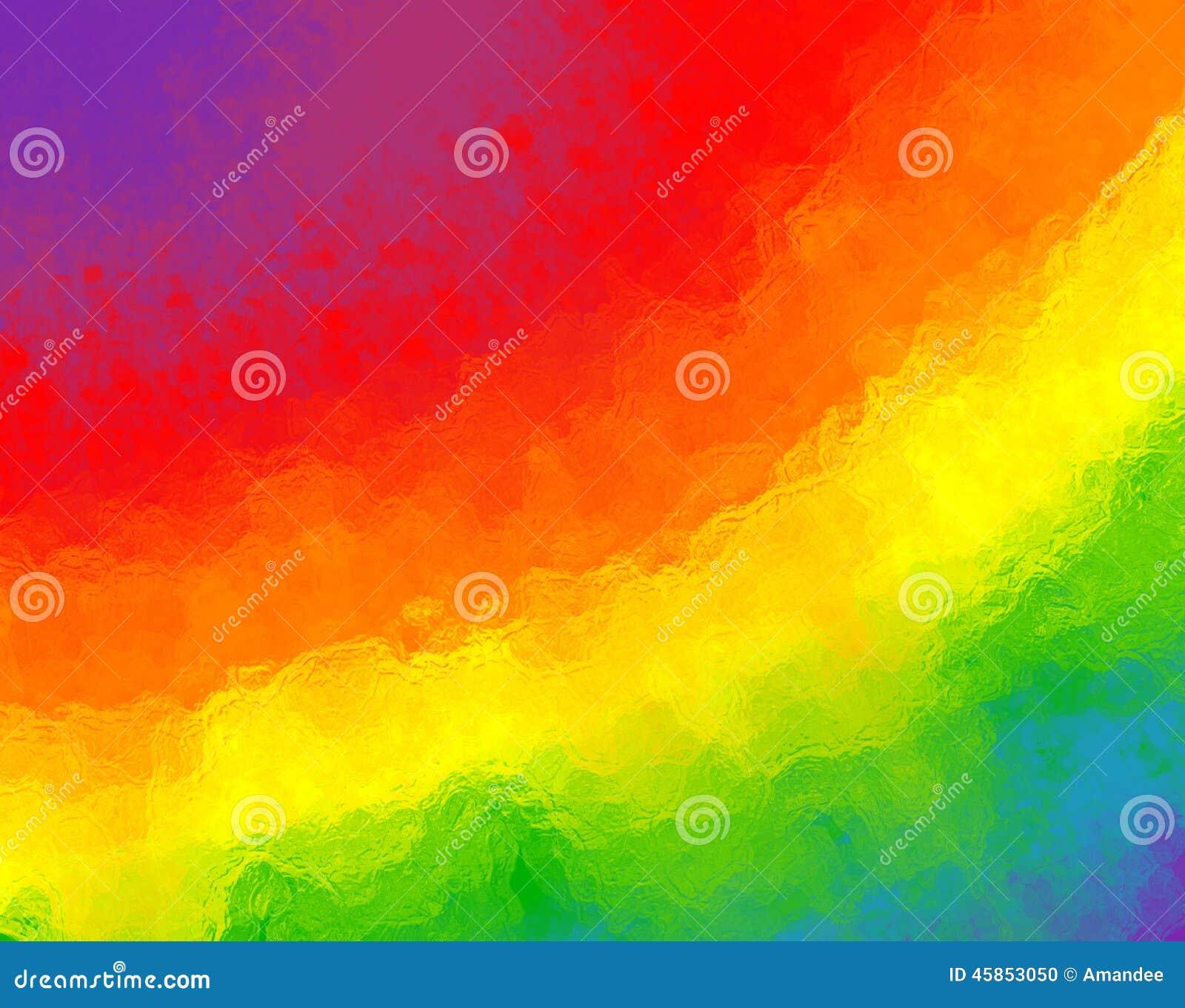 Abstrakter Regenbogenhintergrund mit unscharfer Glasbeschaffenheit und hellen Farben