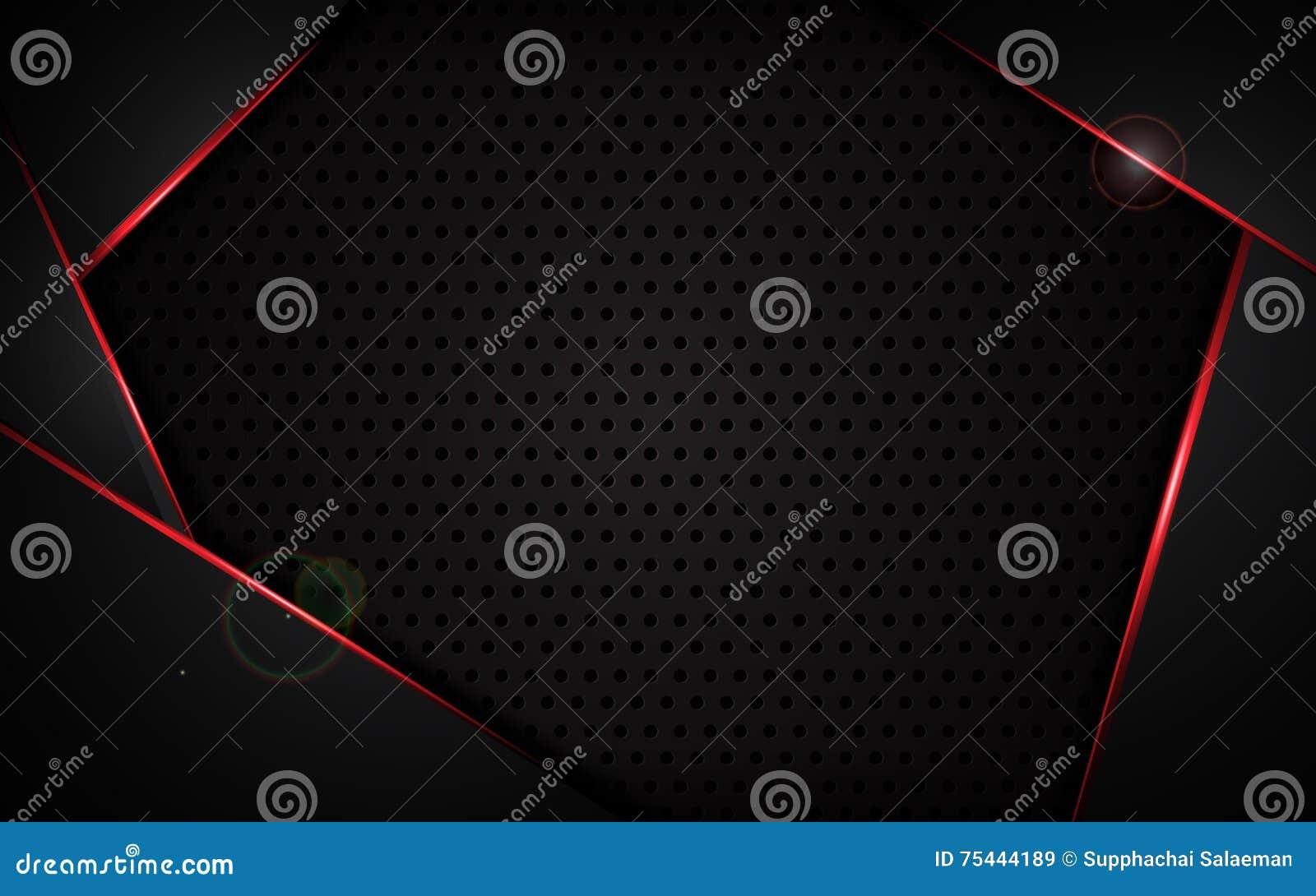 Abstrakter Roter Rahmen Mit Stahlbeschaffenheitslochmuster Trägt ...