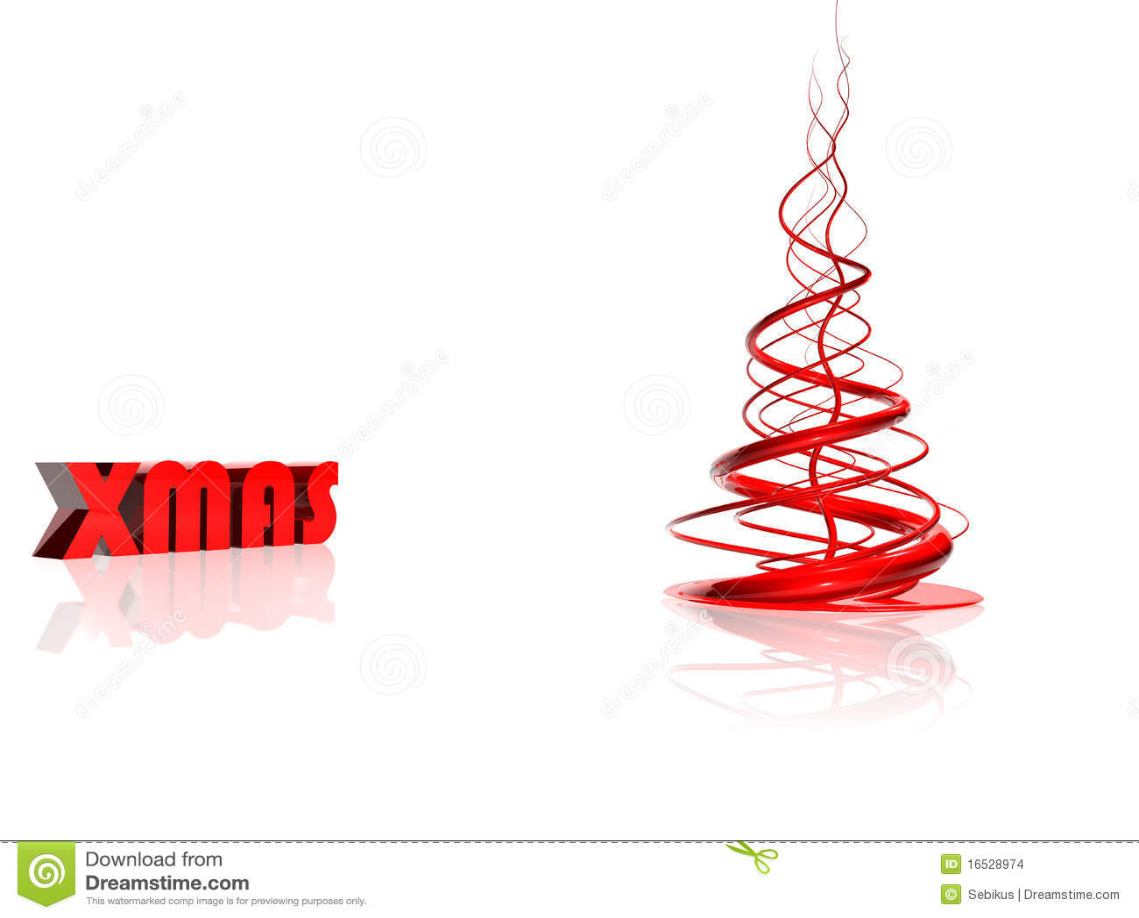 abstrakter roter weihnachtsbaum stockfoto bild 16528974. Black Bedroom Furniture Sets. Home Design Ideas