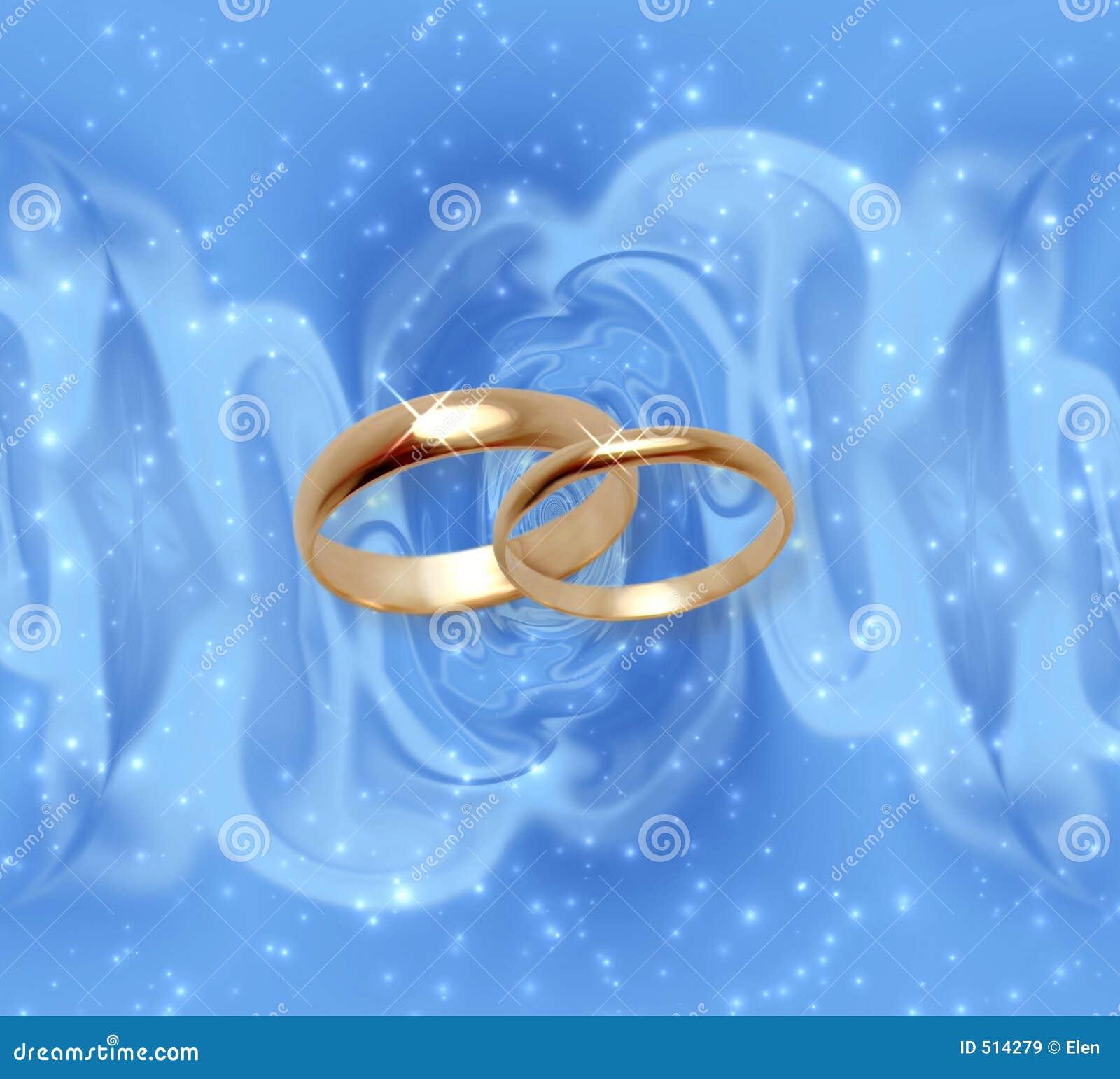 Abstrakter Schneehintergrund Mit Hochzeitsringen Stock Abbildung