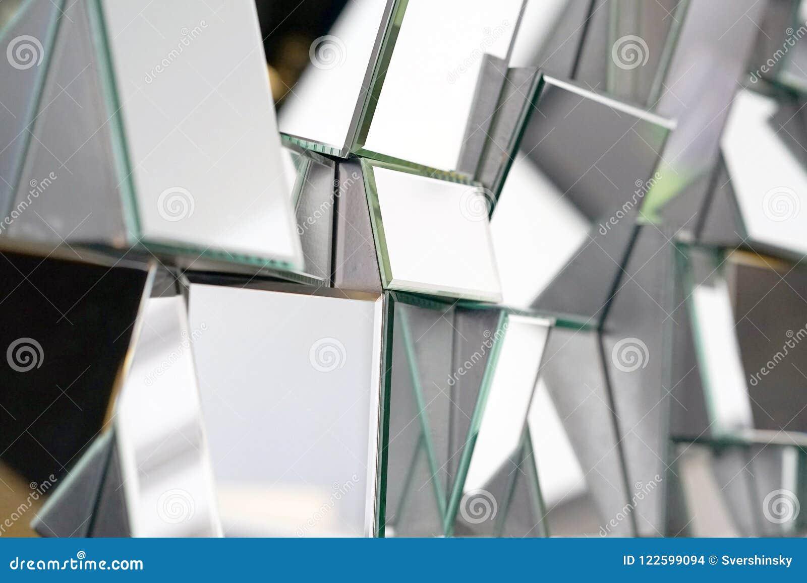 Abstrakter Spiegel Nahaufnahme