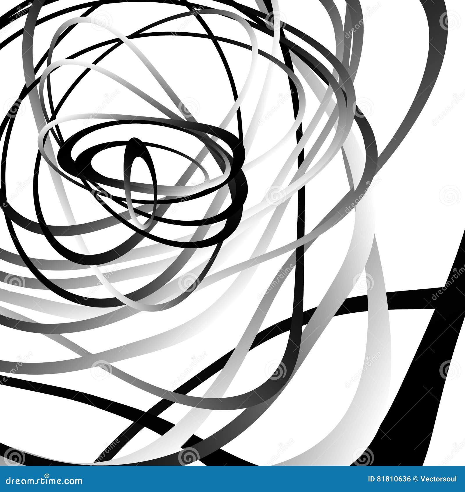 Abstrakter Squiggle, squiggly, curvy Linien Einfarbiges geometrisches p
