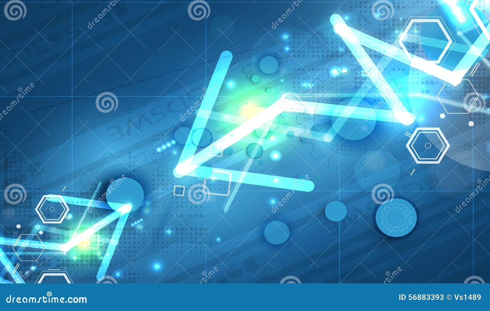 Abstrakter Technologiehintergrund Futuristische Technologieschnittstelle Vektor