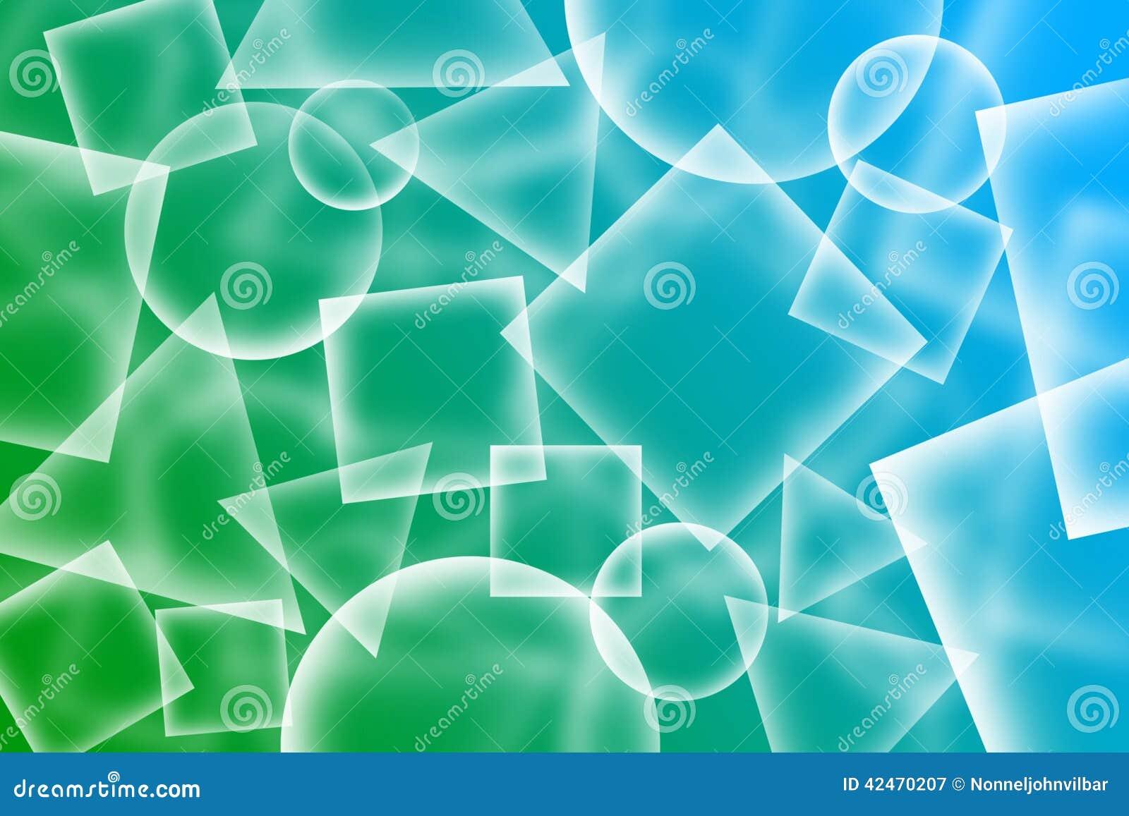 Abstrakter transparenter Formhintergrund