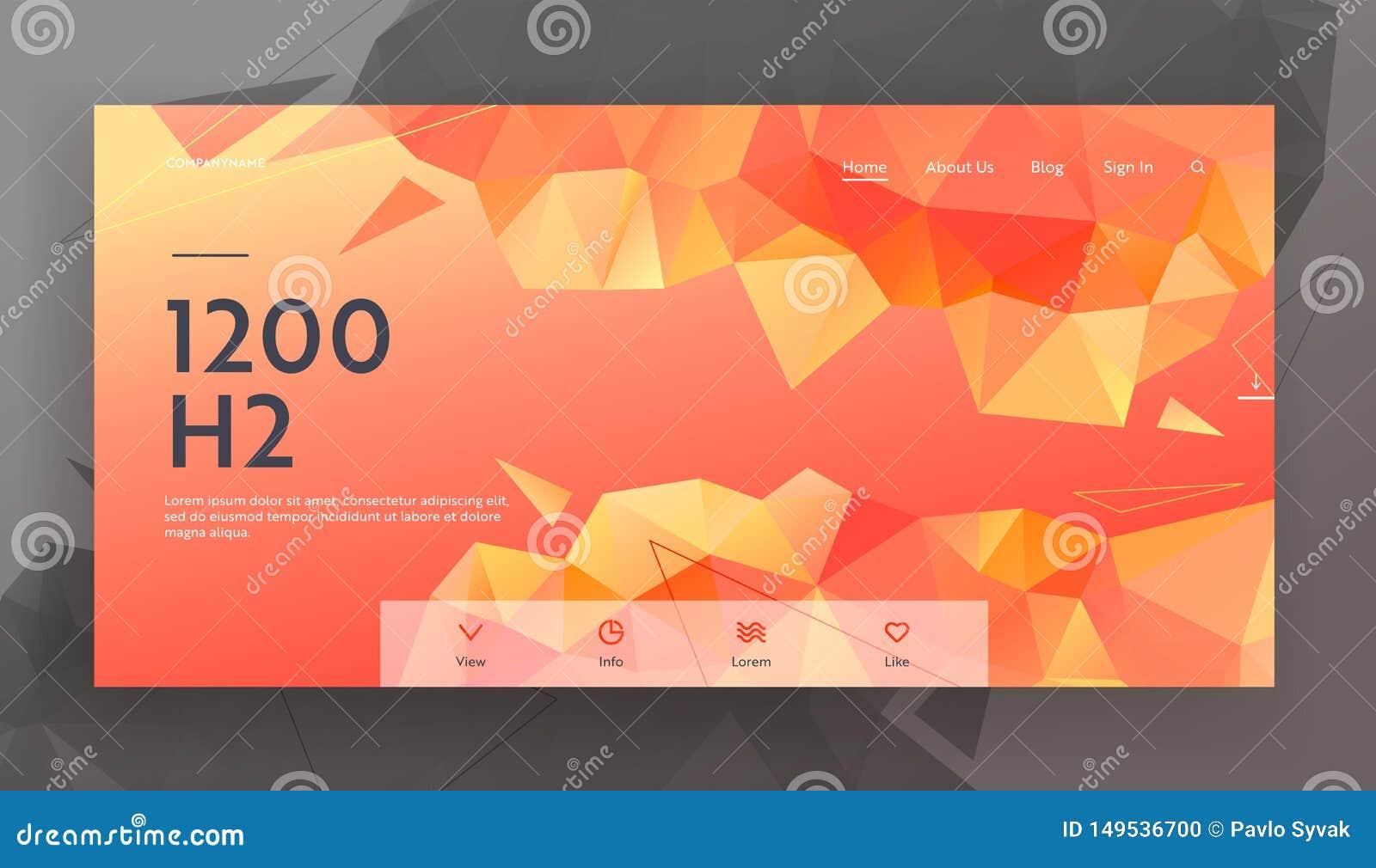 Abstrakter triangulierter Hintergrund mit dynamischem rotem orangefarbenem Muster Moderne geometrische Beschaffenheit mit niedrig