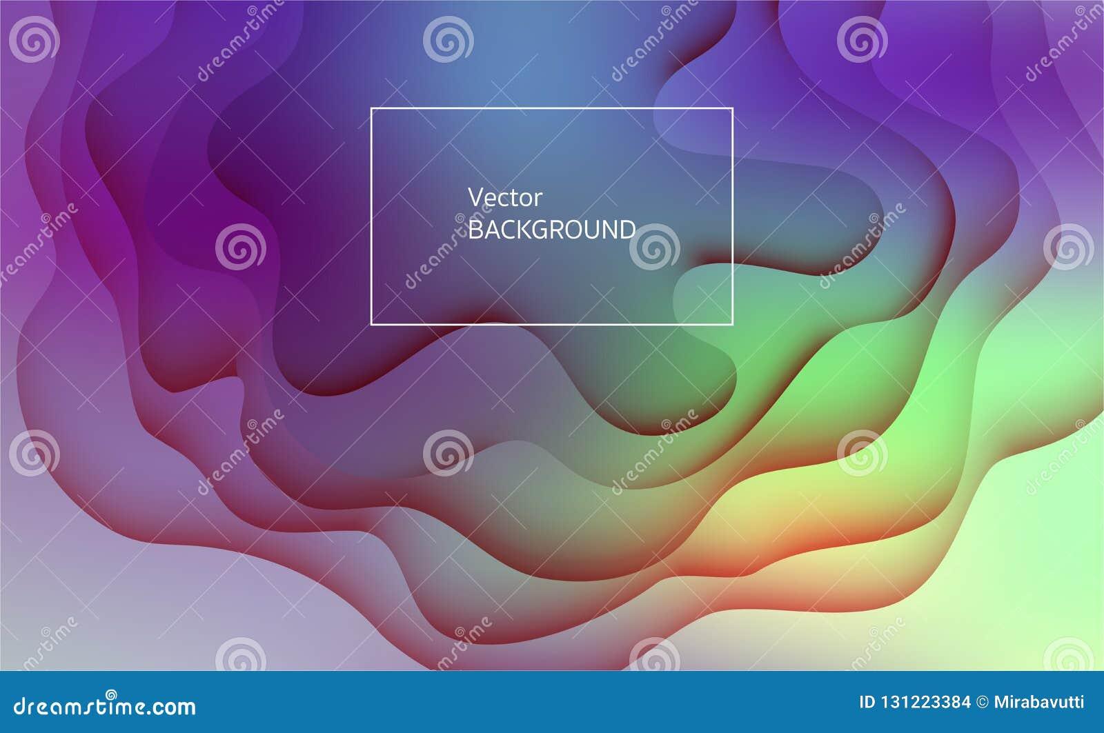 Abstrakter und moderner Vektorhintergrund Papierschnitteffekt