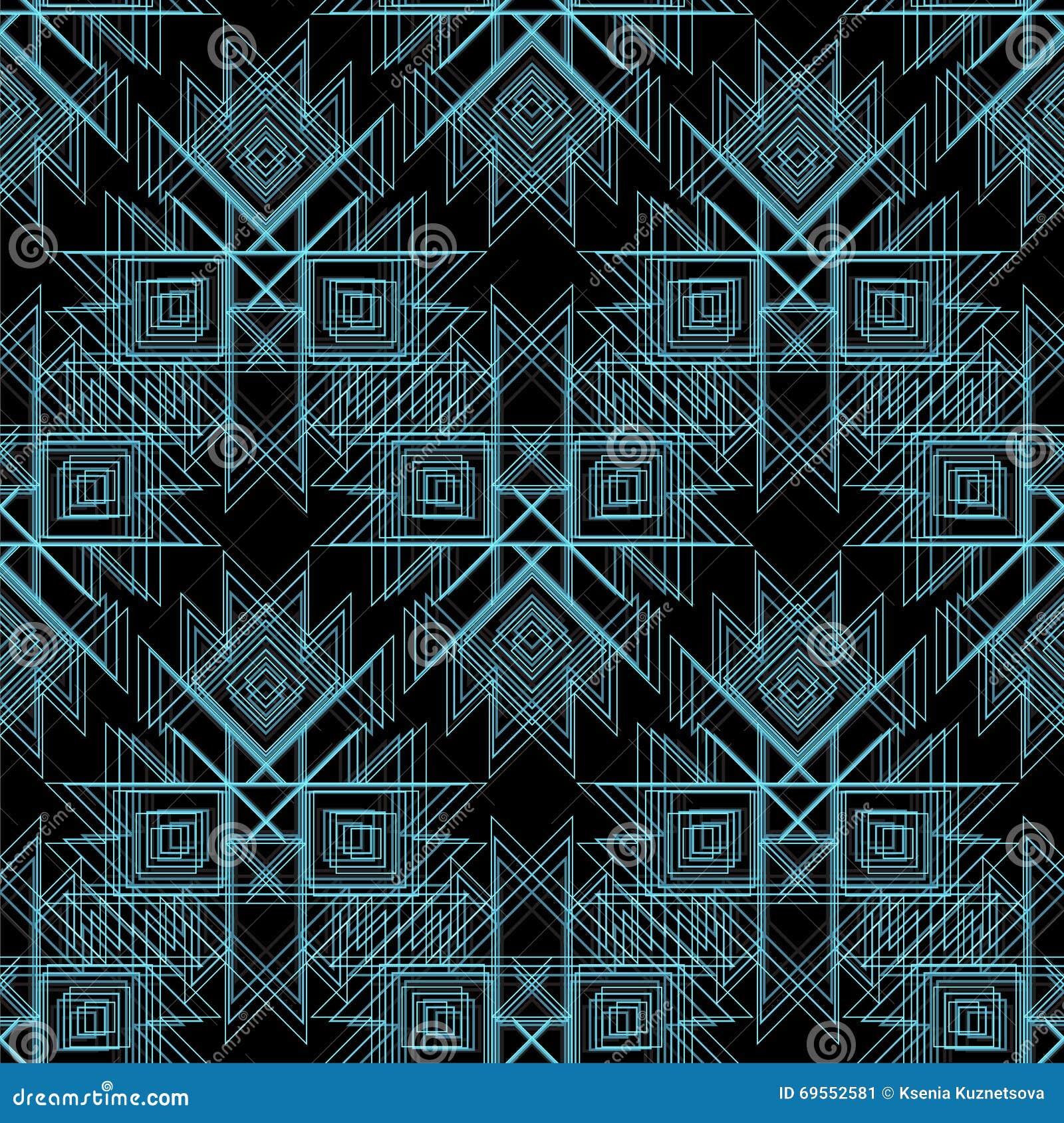 Abstrakter Vektor Stammes Nahtloses Muster Zeichnen Sie Muster Für