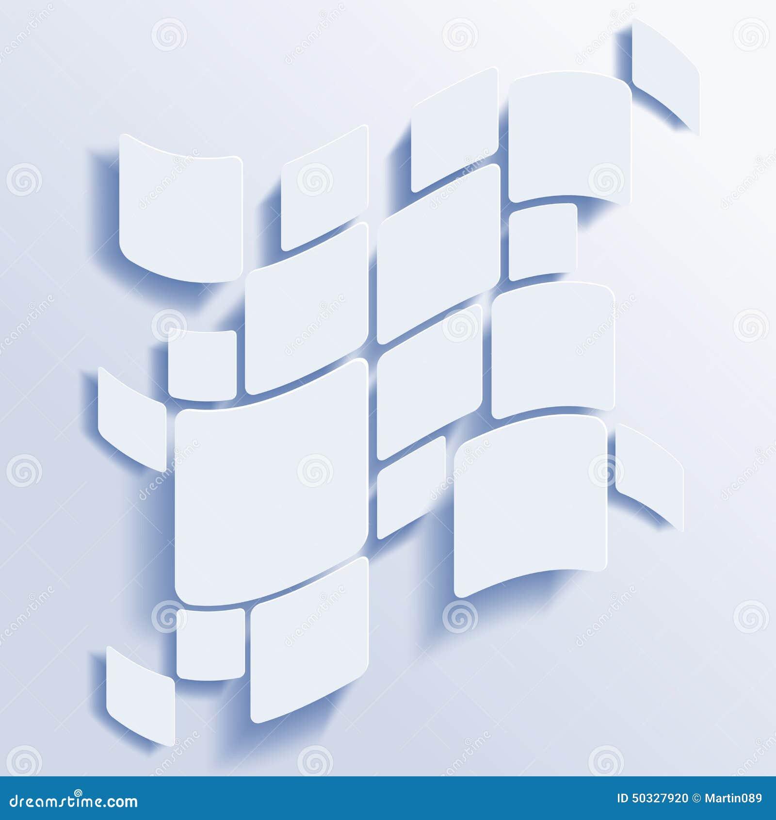 Abstrakter Vektorhintergrund der Quadrate