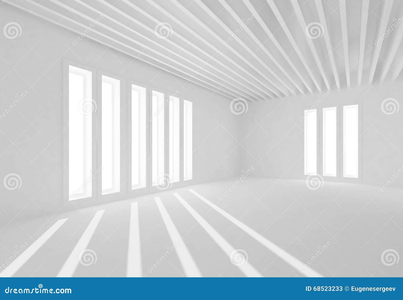 Innenraumfenster  Abstrakter Weißer Innenraum, Fenster Und Sonnenstrahlen Stock ...