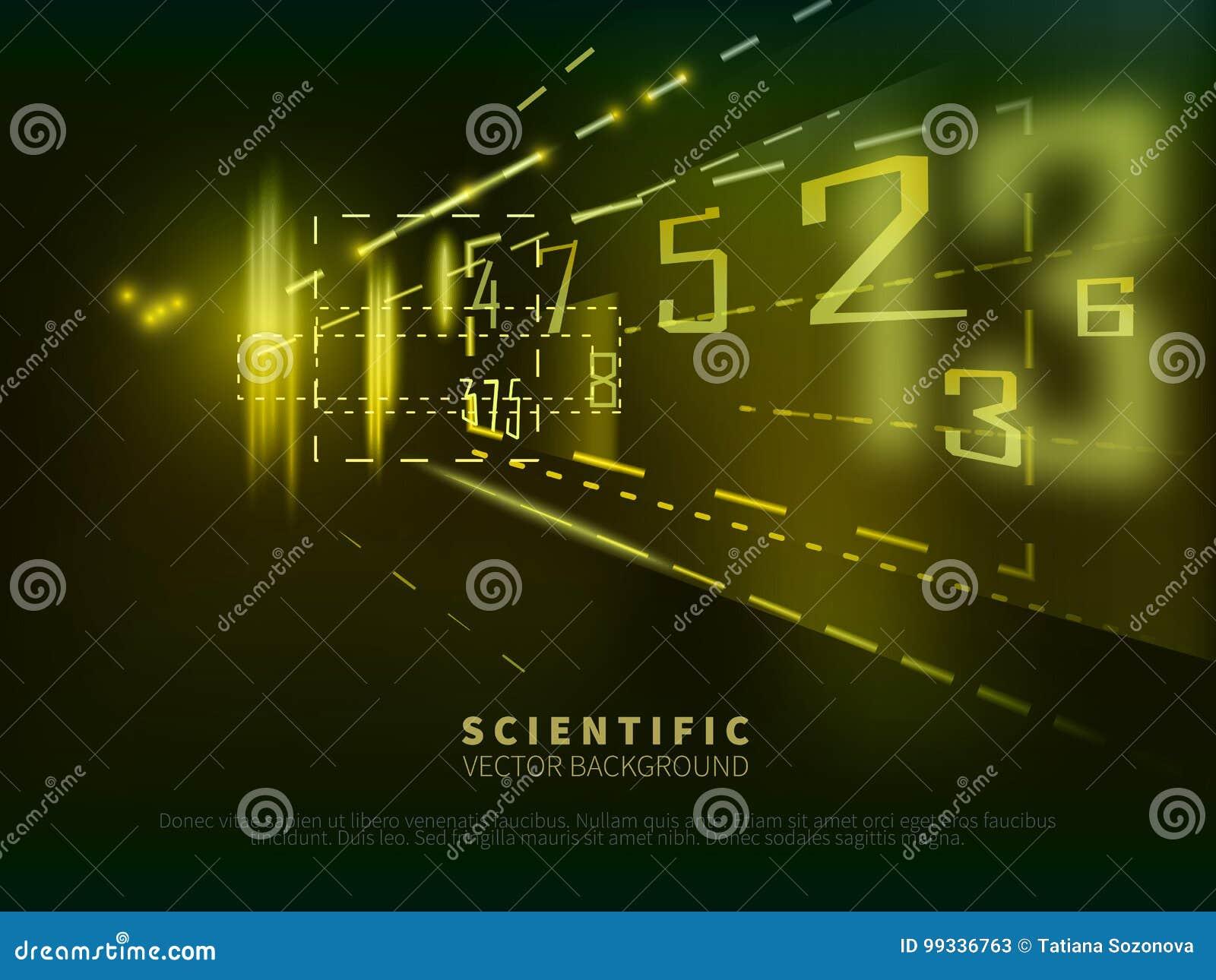 Abstrakter wissenschaftlicher Hintergrund mit Zahlen