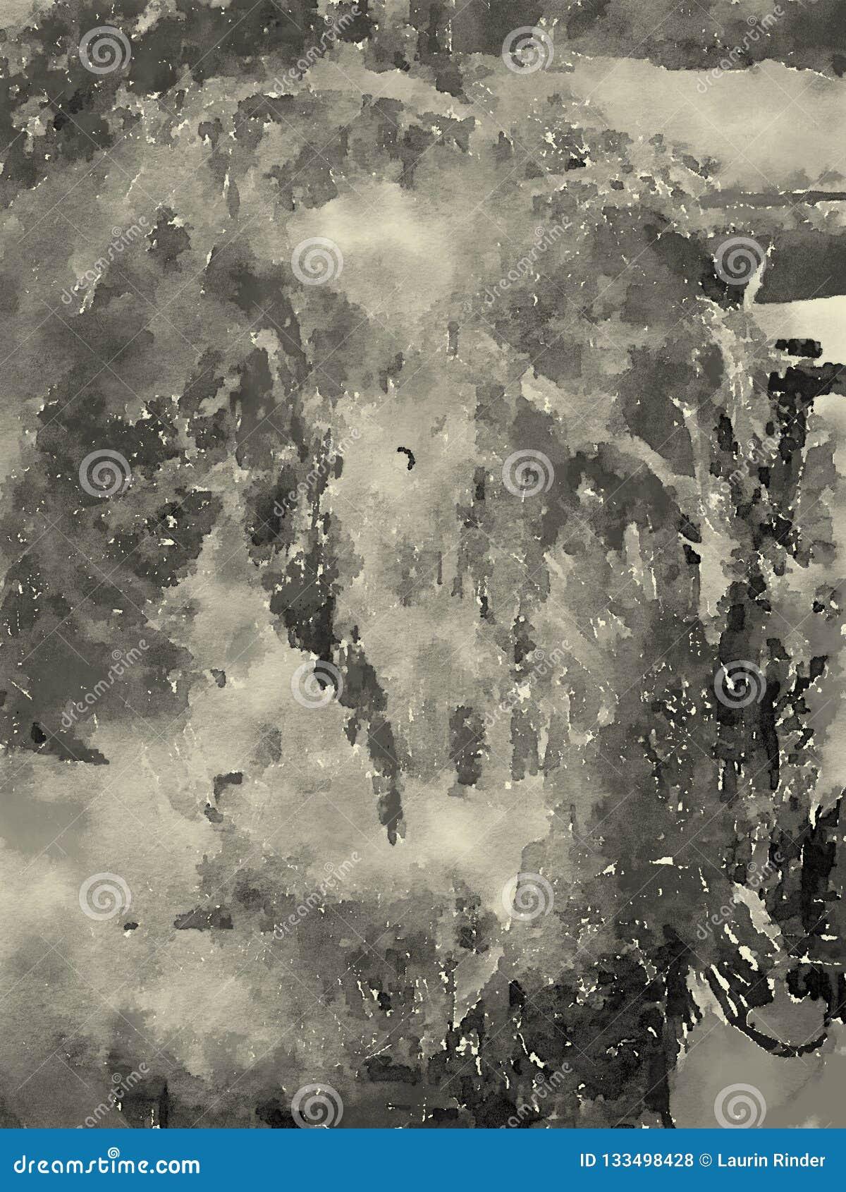 Abstraktes Aquarell auf Papier