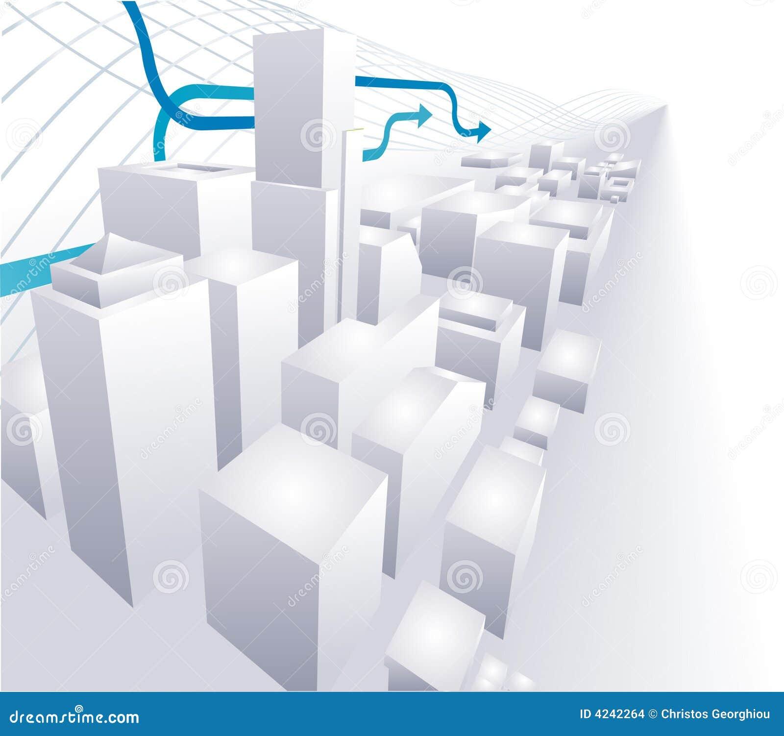 Abstraktes begrifflichba der Stadt 3D