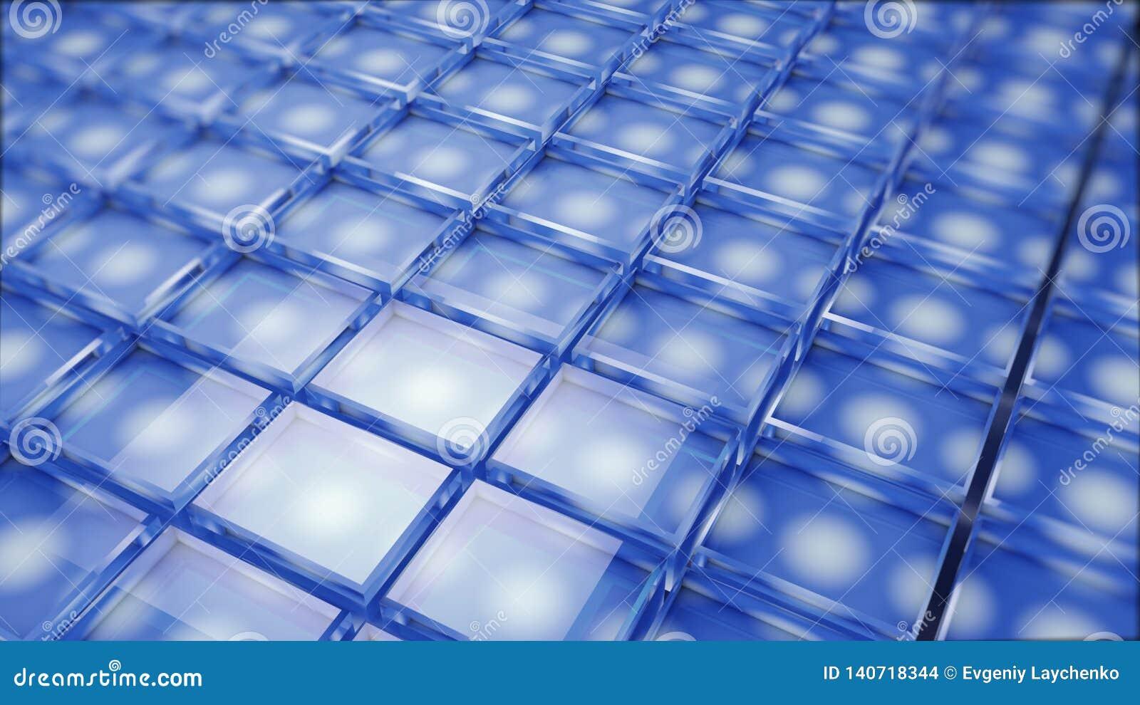 Abstraktes Bild des Würfelhintergrundes im Blau getont