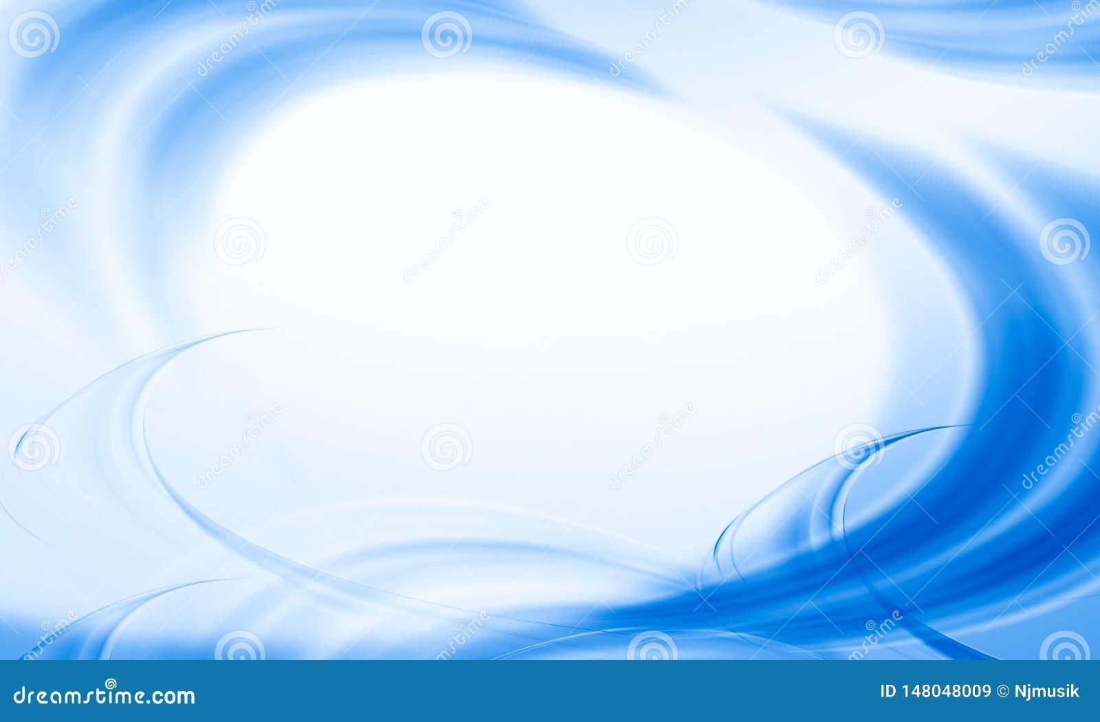 Abstraktes Blau bewegt Hintergrund wellenartig