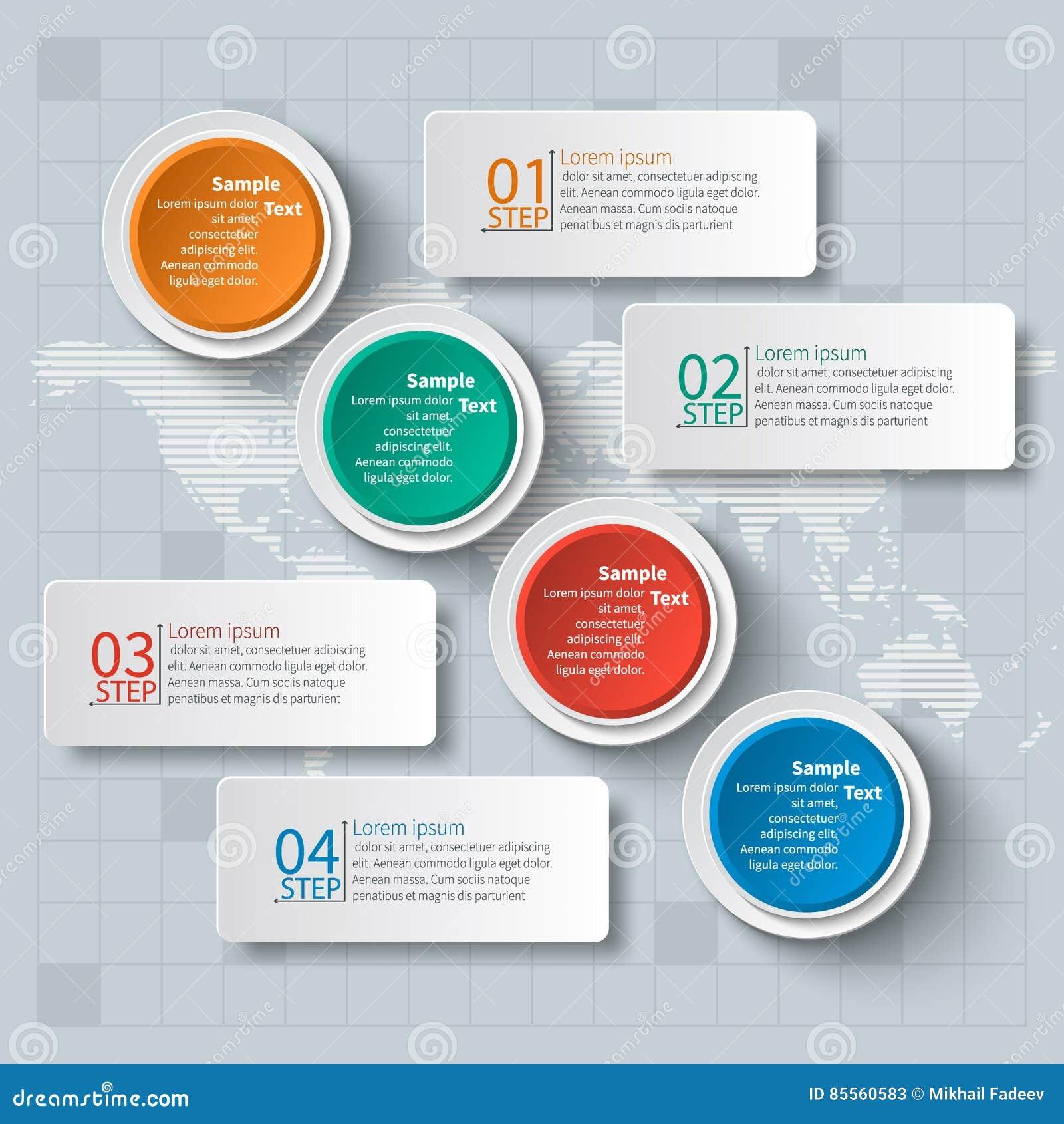 Abstraktes 3D Papier Infographics