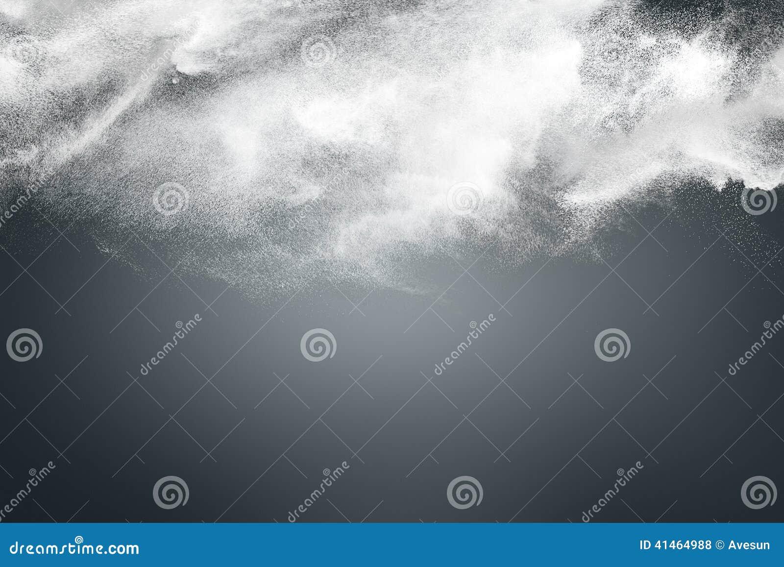 Abstraktes Design der weißen Pulverwolke