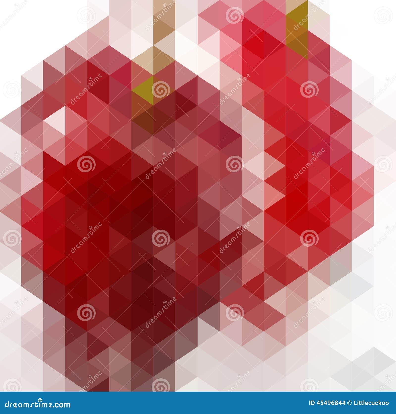 Abstraktes Dreieck-geometrischer mehrfarbiger Hintergrund, Vektor-Illustration EPS10