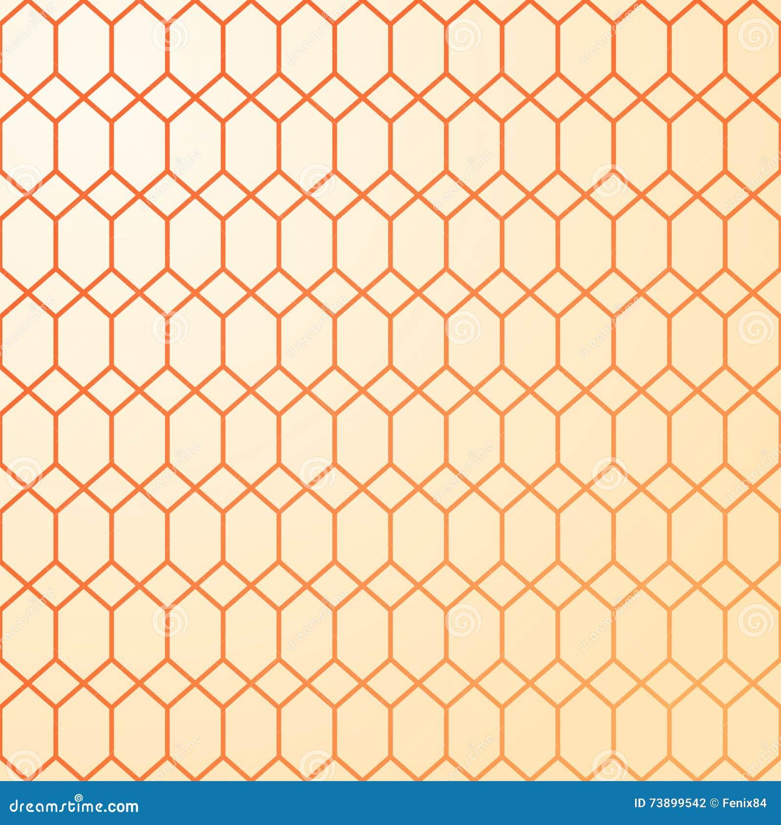 Download Abstraktes Geometrisches Muster Warme Farben   Gelb Und Orange  Vektor Abbildung   Illustration Von Verwoben