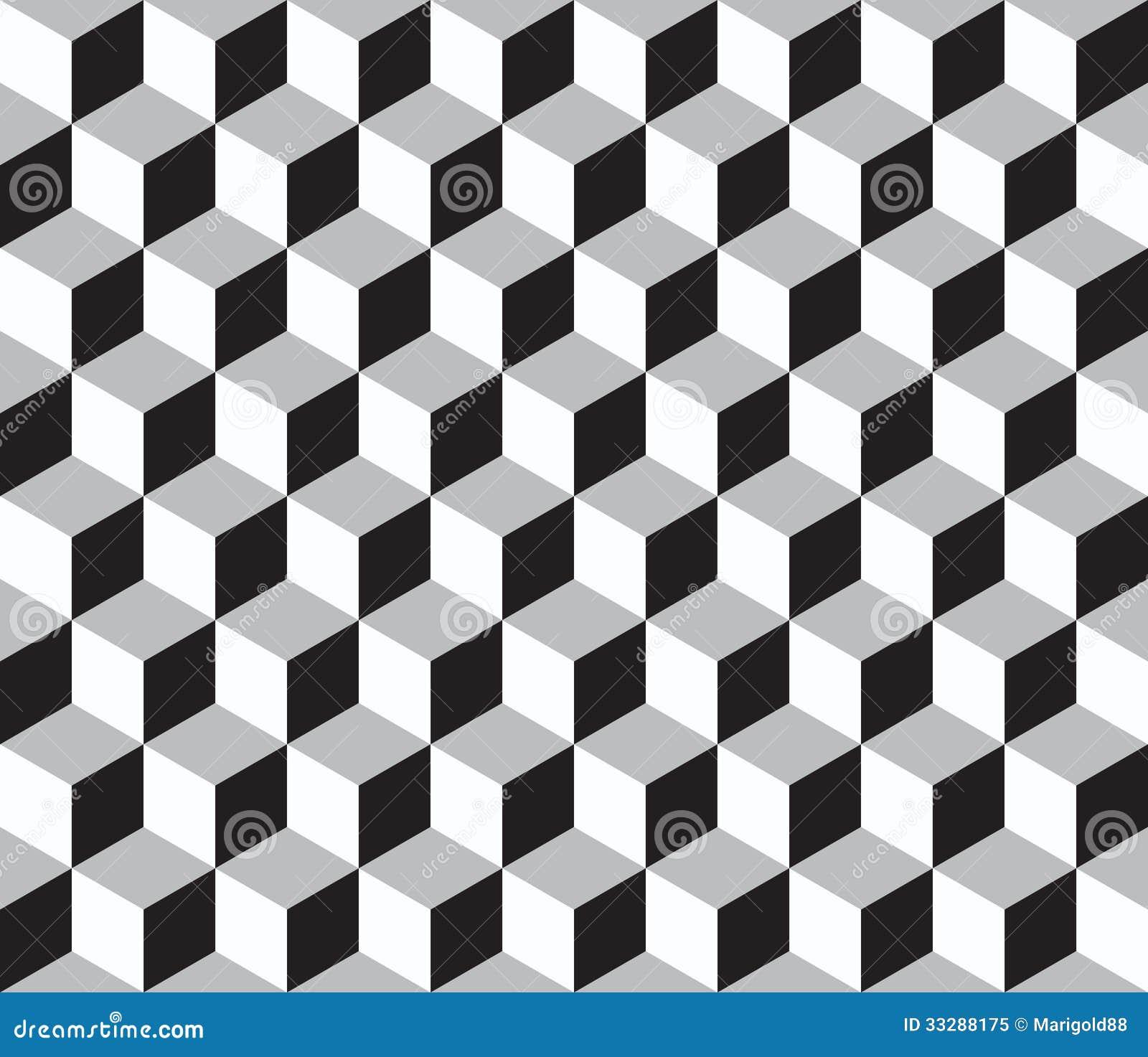 Abstraktes Geometrisches Nahtloses Muster Mit Wrfeln 3d