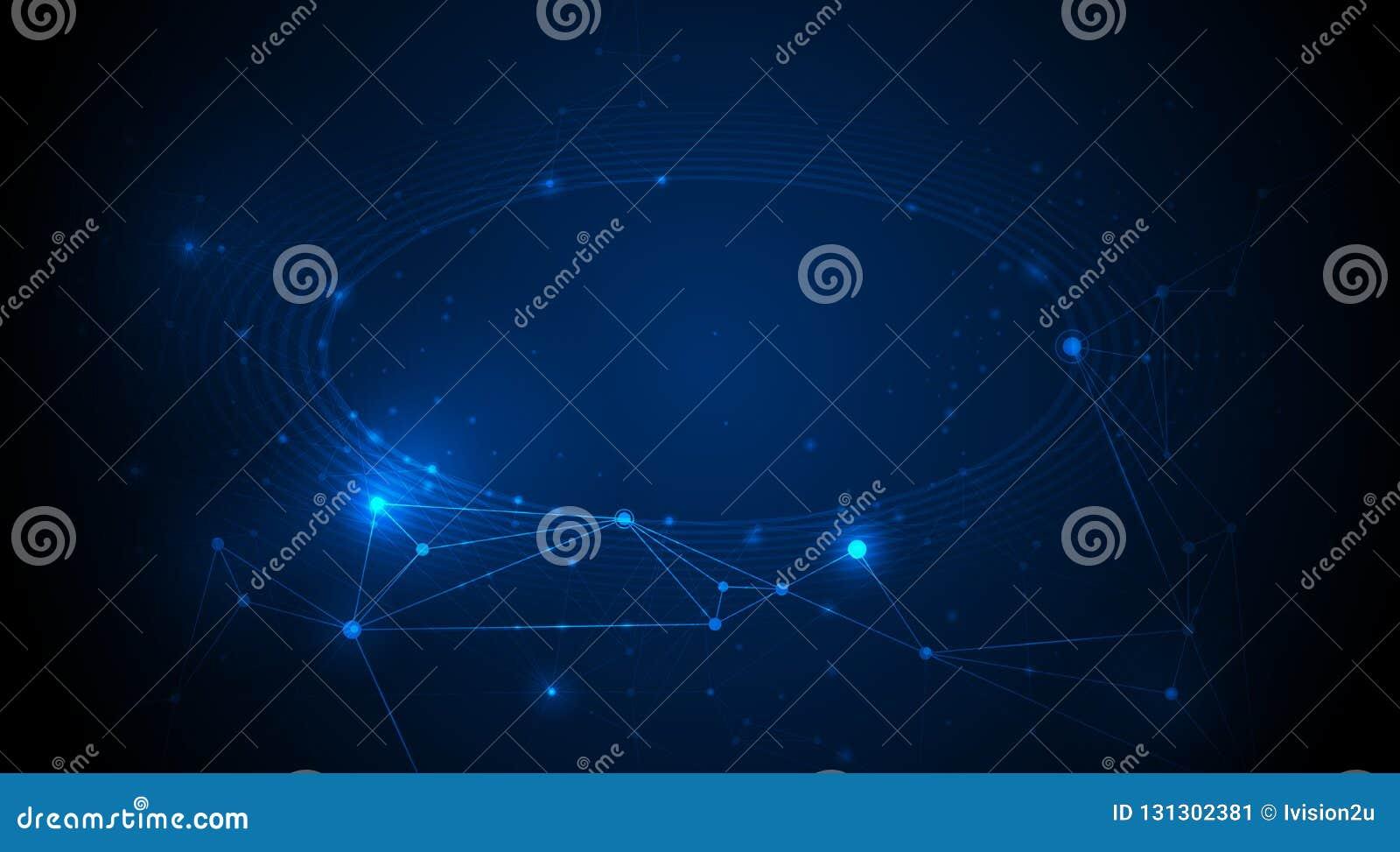 Abstraktes Internet-Verbindungsdesign für Website Digital-Daten, Kommunikation, Wissenschaft und futuristisches Konzept