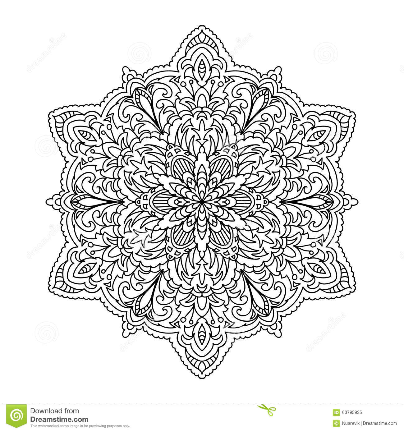 Abstraktes Mandala Zentangle Stock Abbildung - Illustration von ...