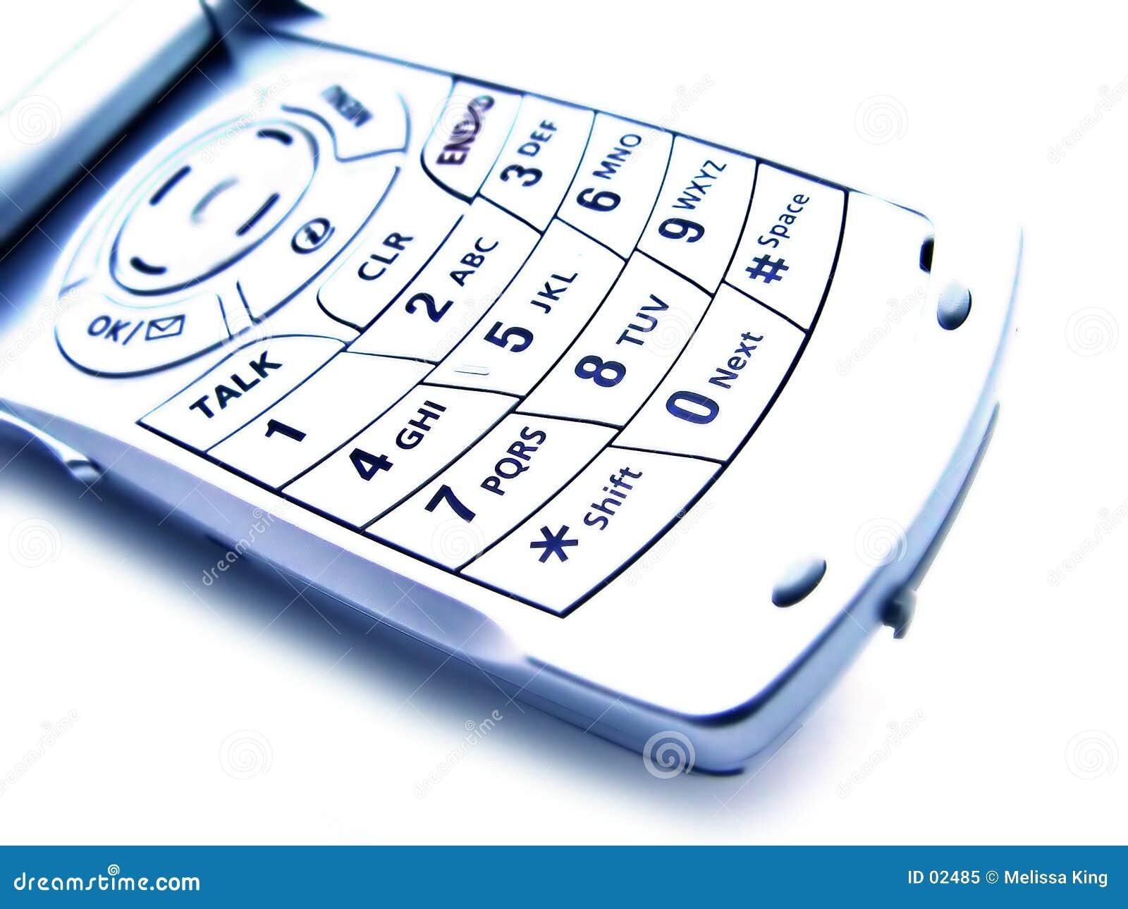 Abstraktes Mobiltelefon - getrennt