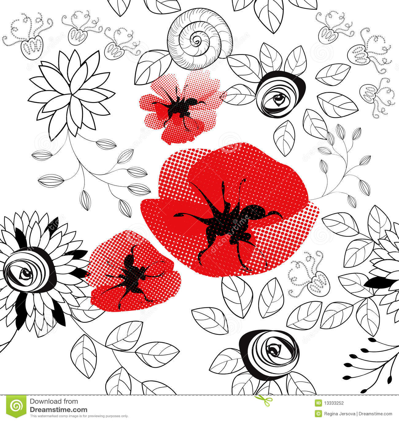 Abstraktes nahtloses mit Blumenmuster