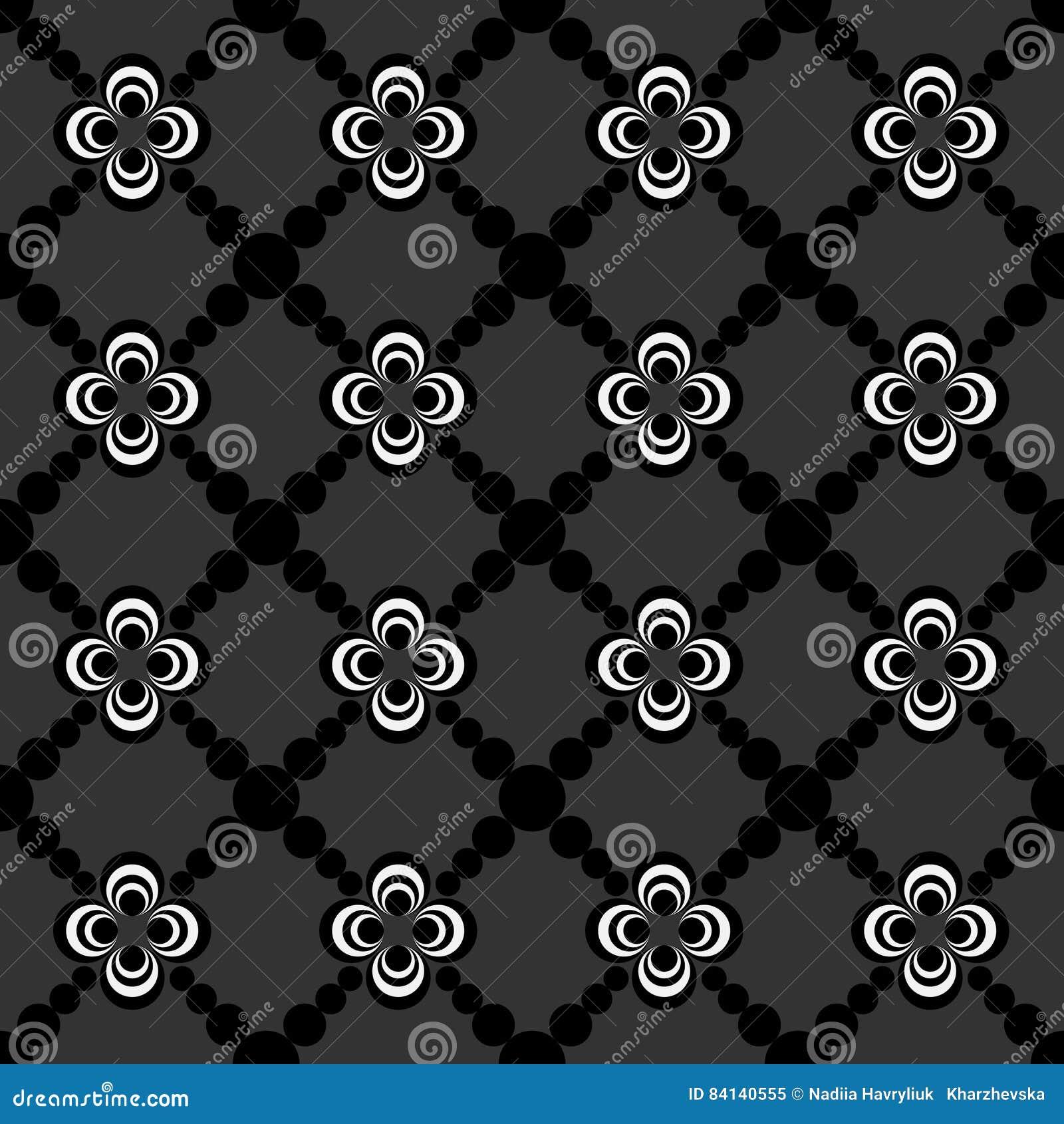 Abstraktes Nahtloses Muster Der Schwarzweiss Farbe Für Tapeten Und  Hintergrund