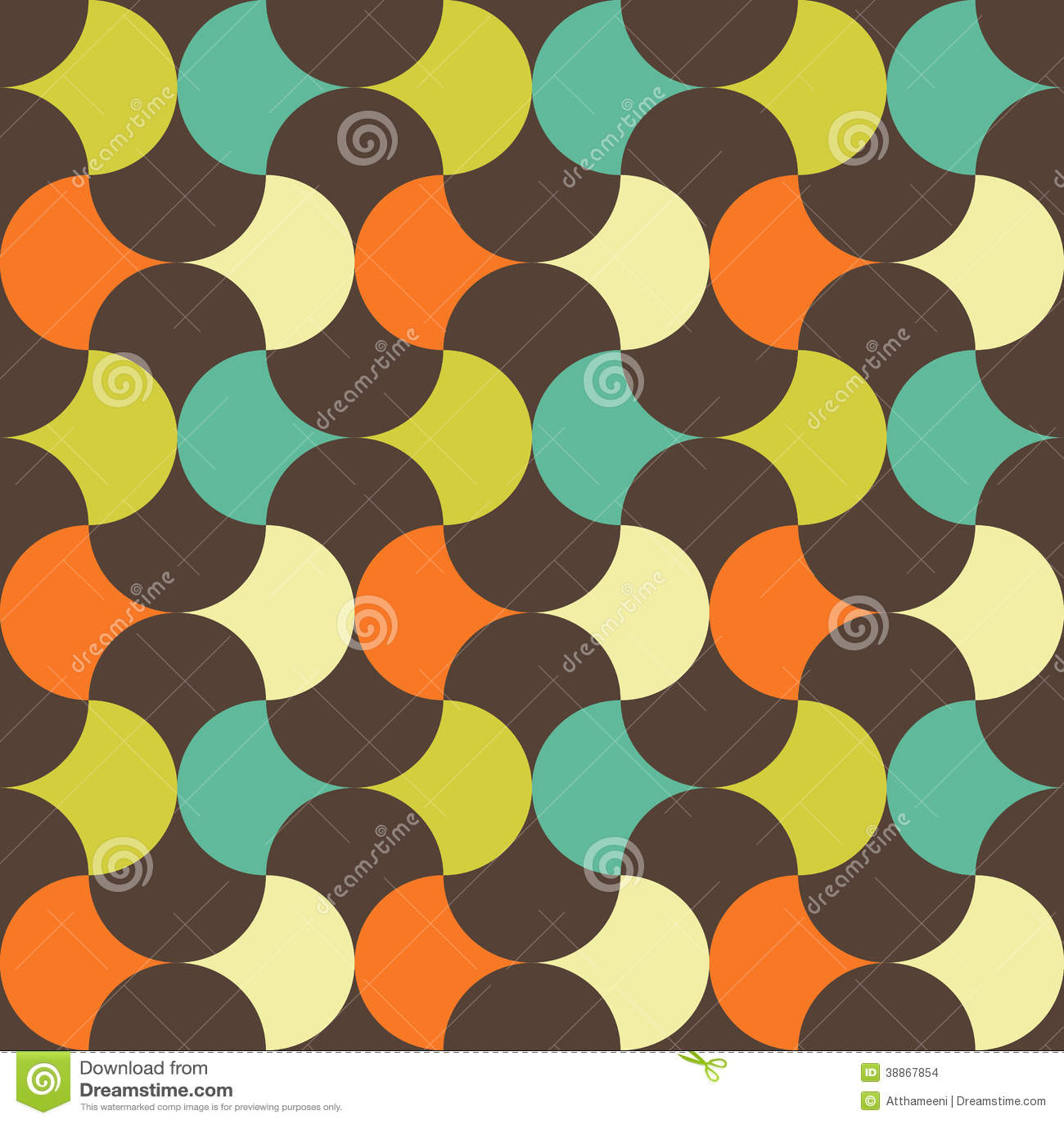Abstraktes Retro- geometrisches Muster