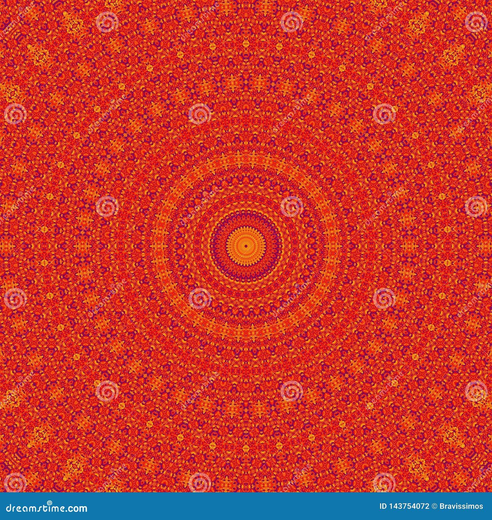 Abstraktes rotes Kaleidoskop des Musterhintergrundes graphik