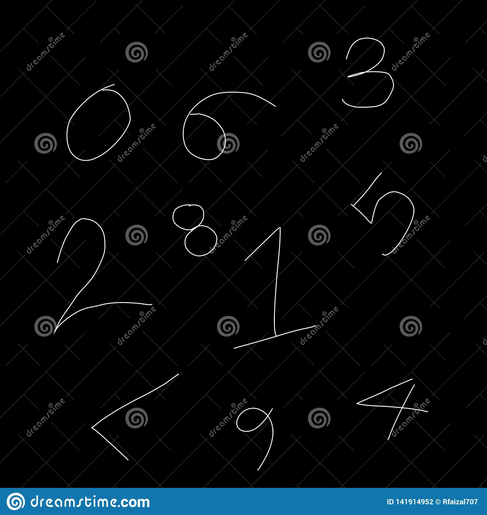 Abstraktes Schwarzweiss-Zahlmuster als Illustrationshintergrund und -tapete