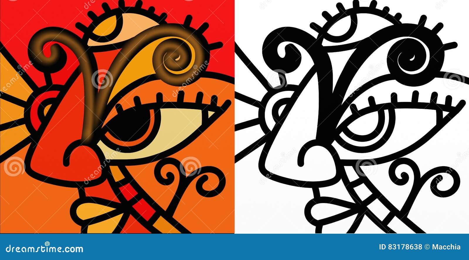 abstraktes sternzeichen widder stock abbildung illustration von element sterne 83178638. Black Bedroom Furniture Sets. Home Design Ideas