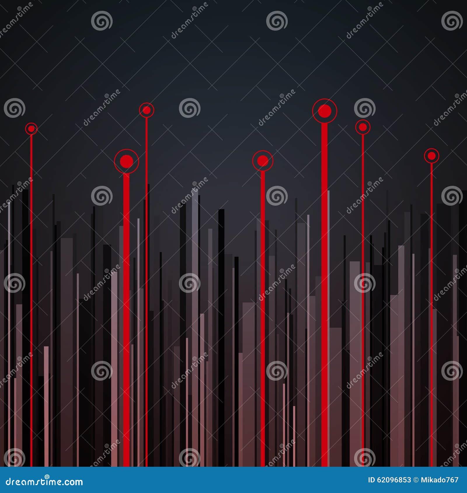 Abstraktes Vertikales Infographics Grau, Schwarzes Und Rot