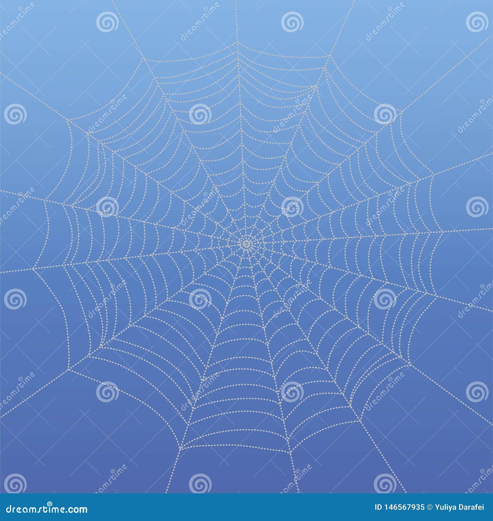 Abstraktes zeichnendes spiderweb