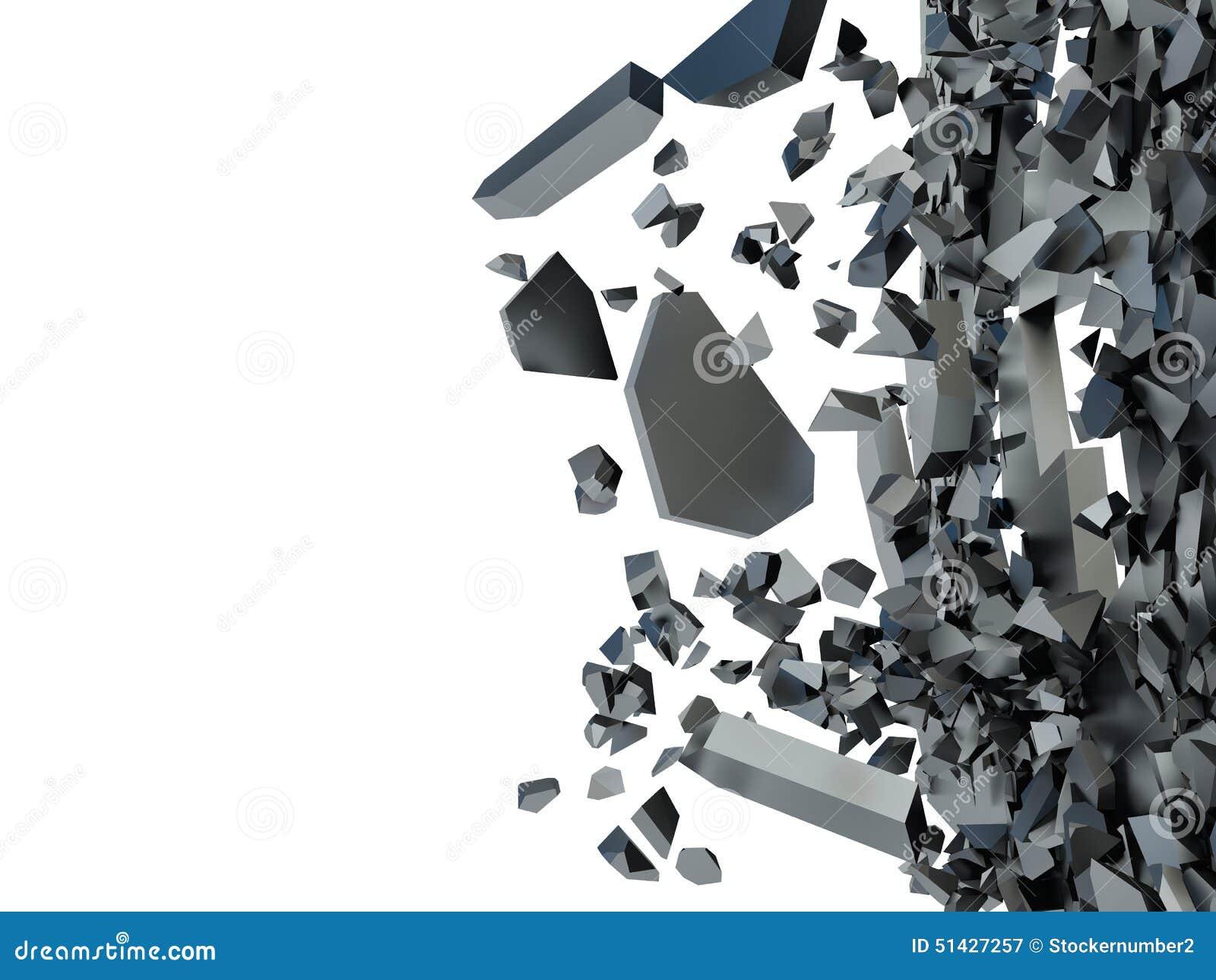 Abstraktion av olika fragment på en vit bakgrund