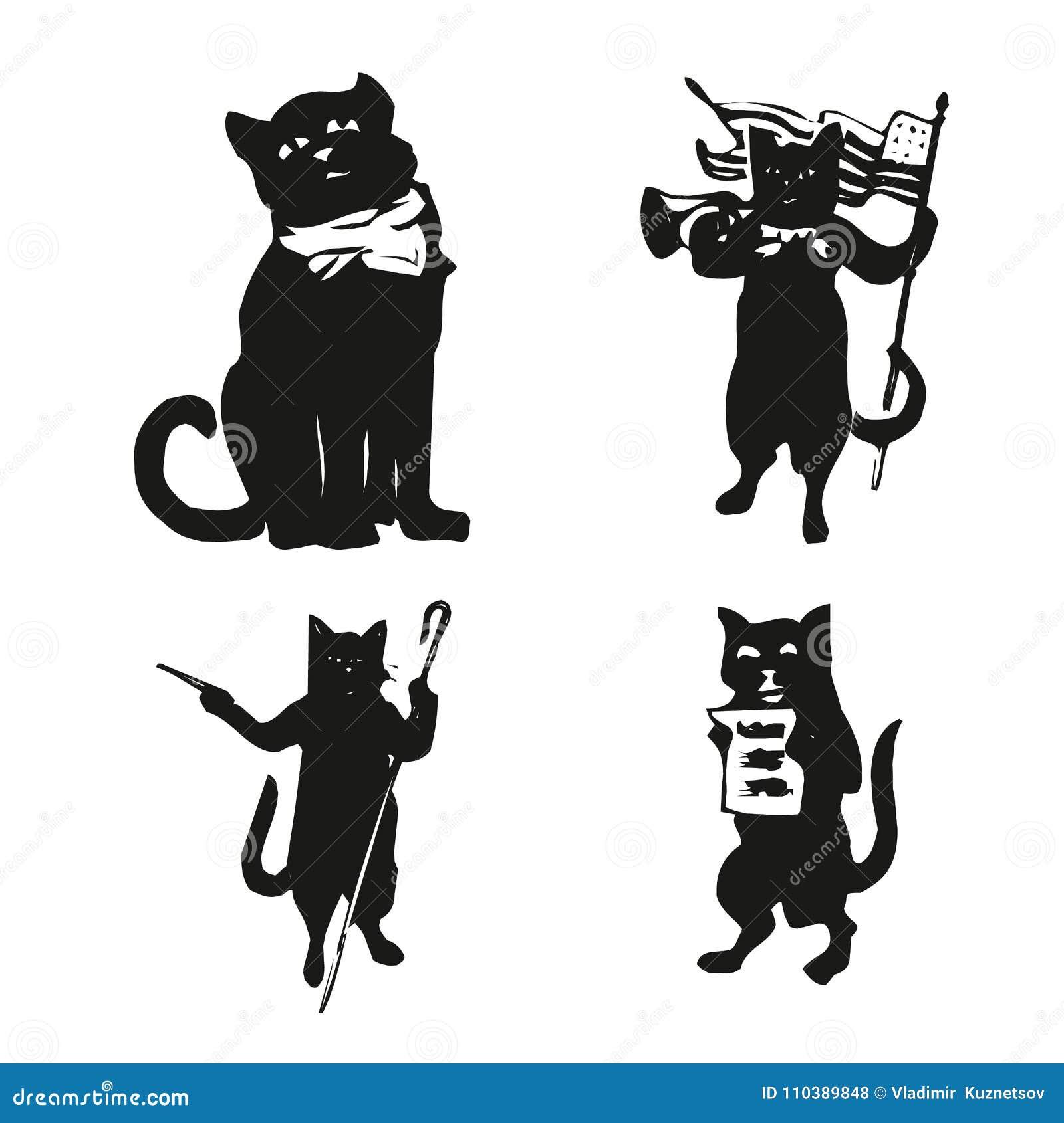 Abstraktion för svart katt