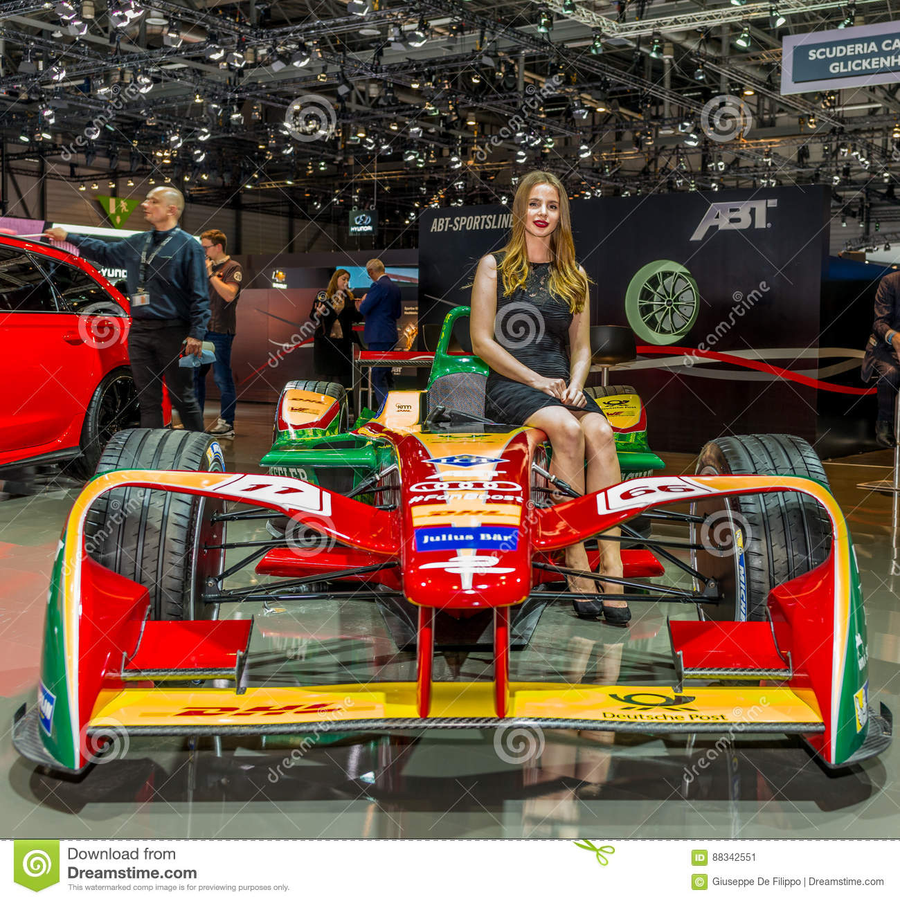 ABT Formula E Racing Car Presented At The Geneva