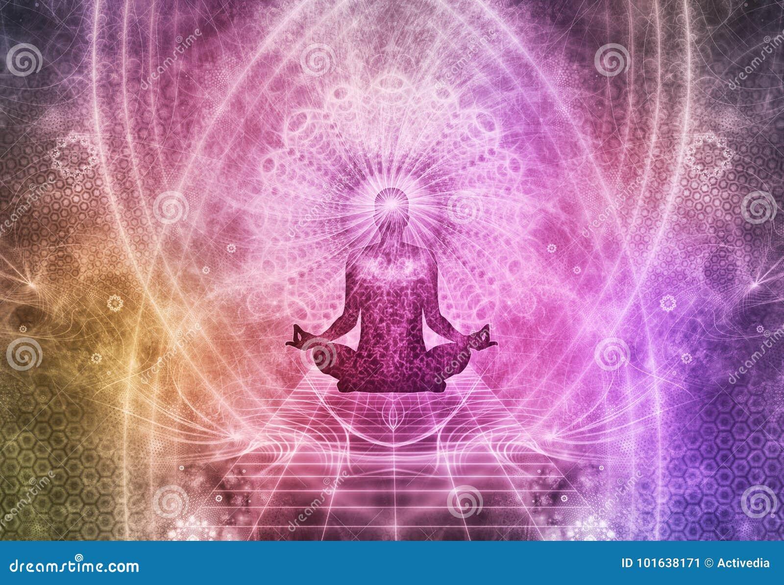 Meditation Abstract Spiritualism Yoga Concept