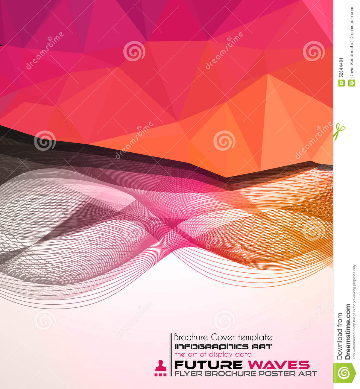 Abtract Waves Background For Brochures And Flyers Design Stock ...