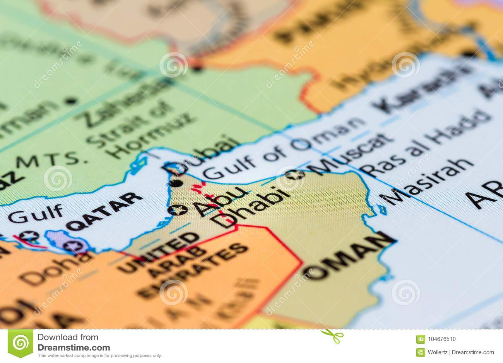Nantes Karte.Abu Dhabi Auf Einer Karte Stockfoto Bild Von Nantes 104676510
