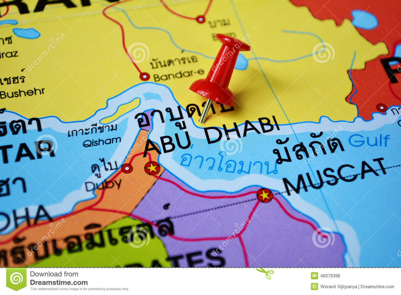Abu Dhabi And Dubai Map Royalty Free Photos Image 10716648 – Abu Dhabi Dubai Map