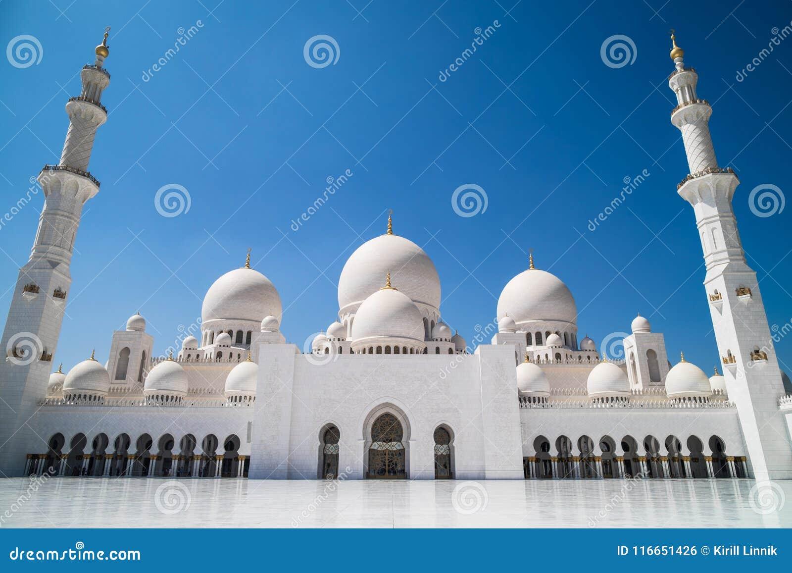 Download Abu Dhabi Sheikh Zayed Mosque Stock Photo - Image of arabia, arab: 116651426