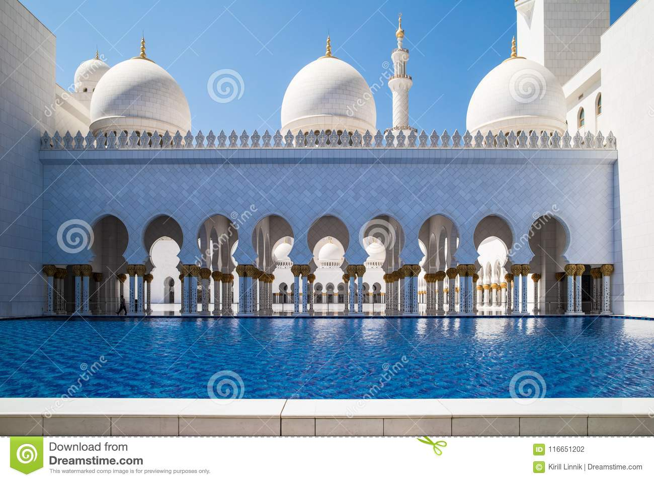 Download Abu Dhabi Sheikh Zayed Mosque Stock Photo - Image of asia, islam: 116651202
