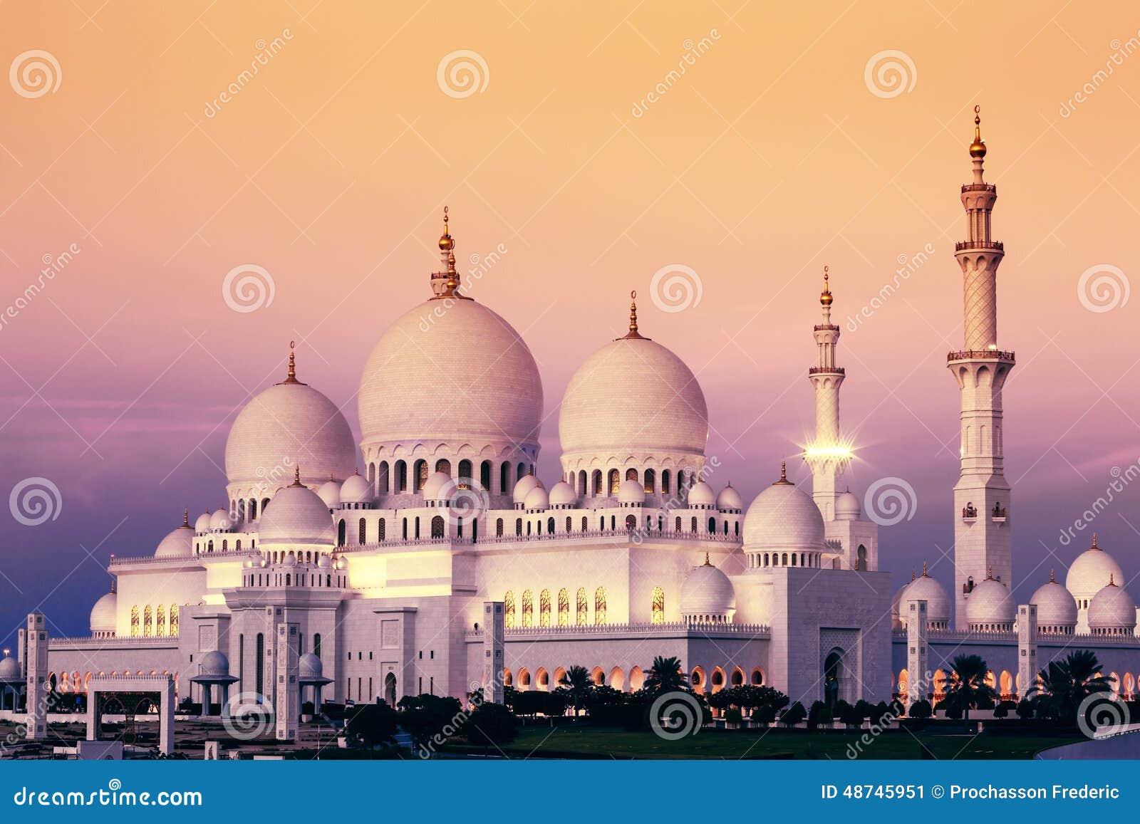 Sheikh Zayed Mosque Stock Photography Cartoondealer Com
