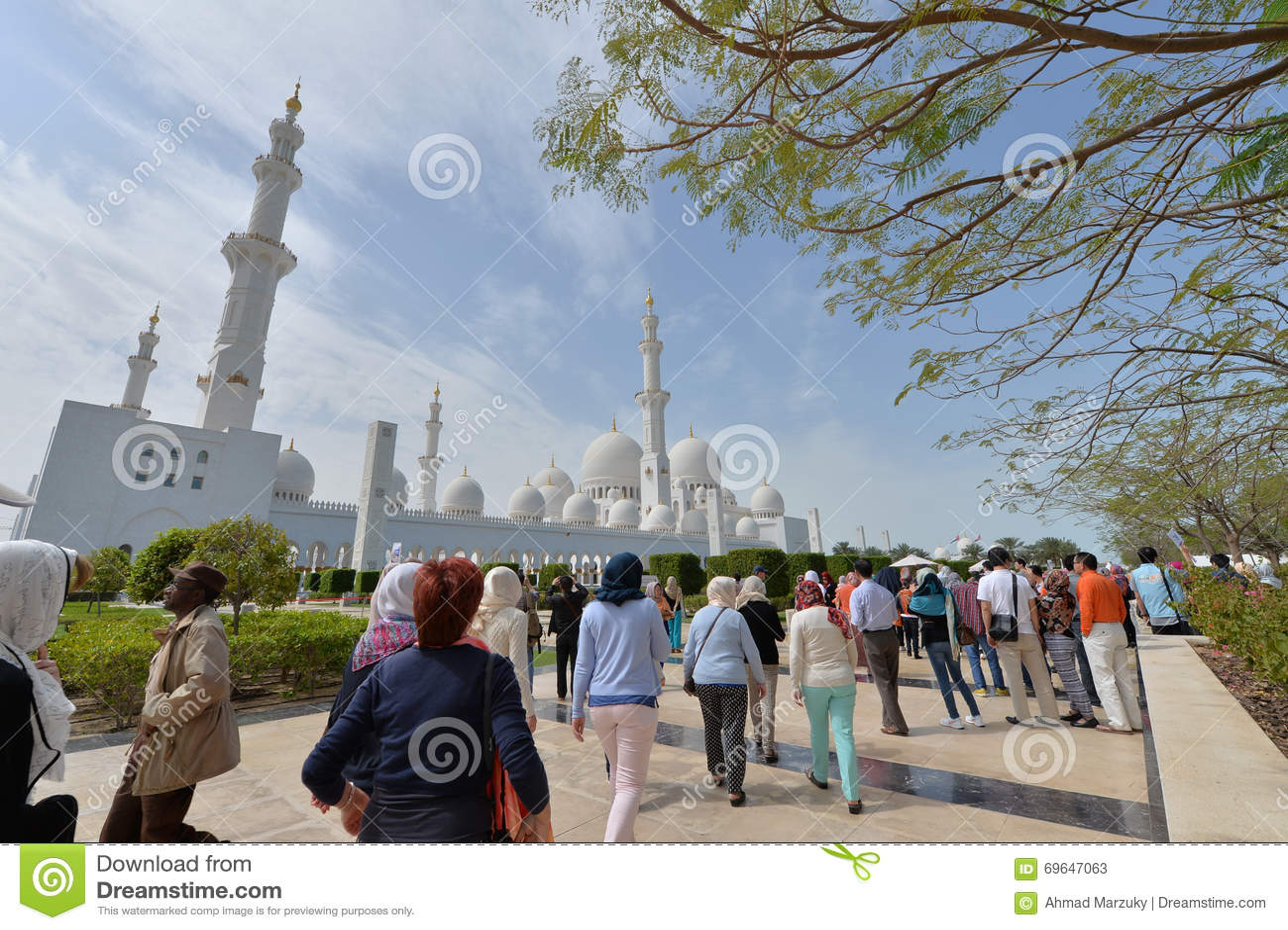Sheikh Zayed Grand Mosque Abu Dhabi Editorial Photo 51831395