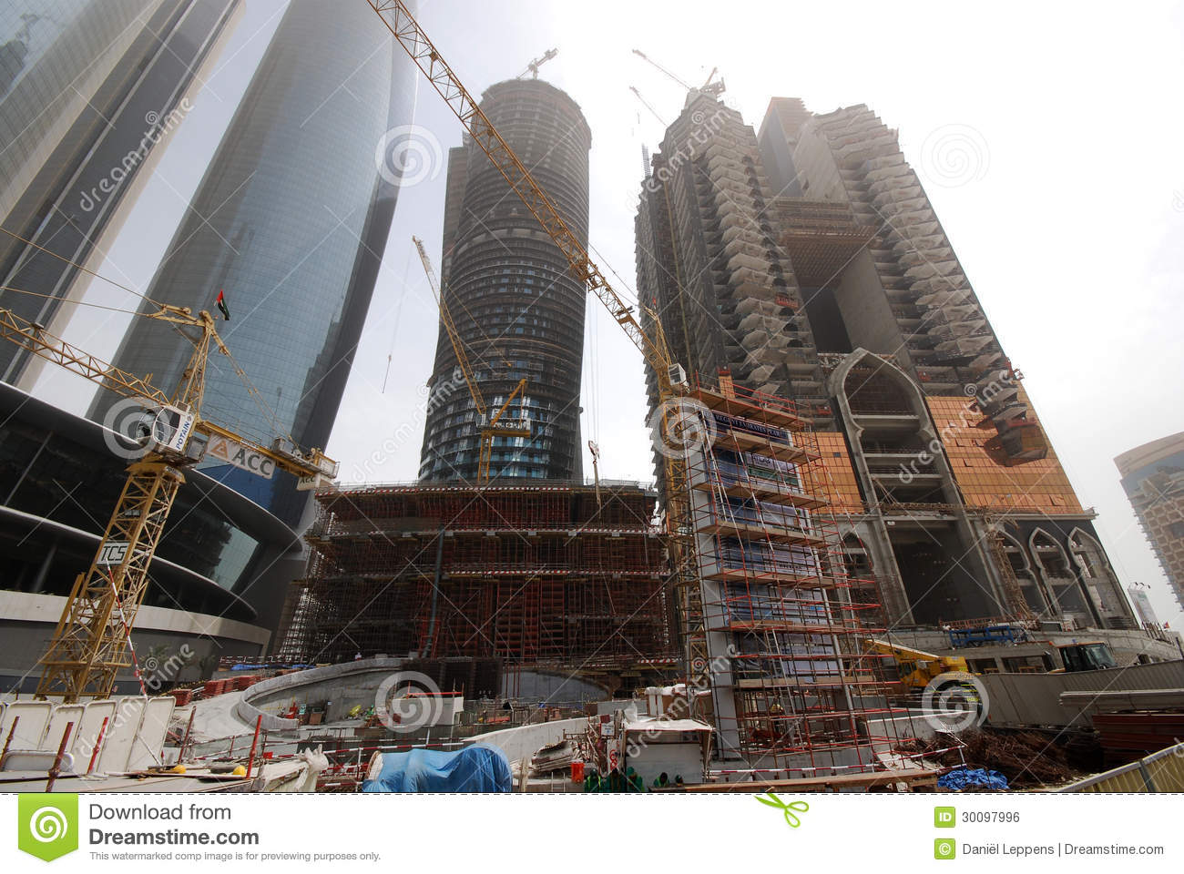 Contruction in abu dhabi editorial photo image 30097996 for Modern building construction