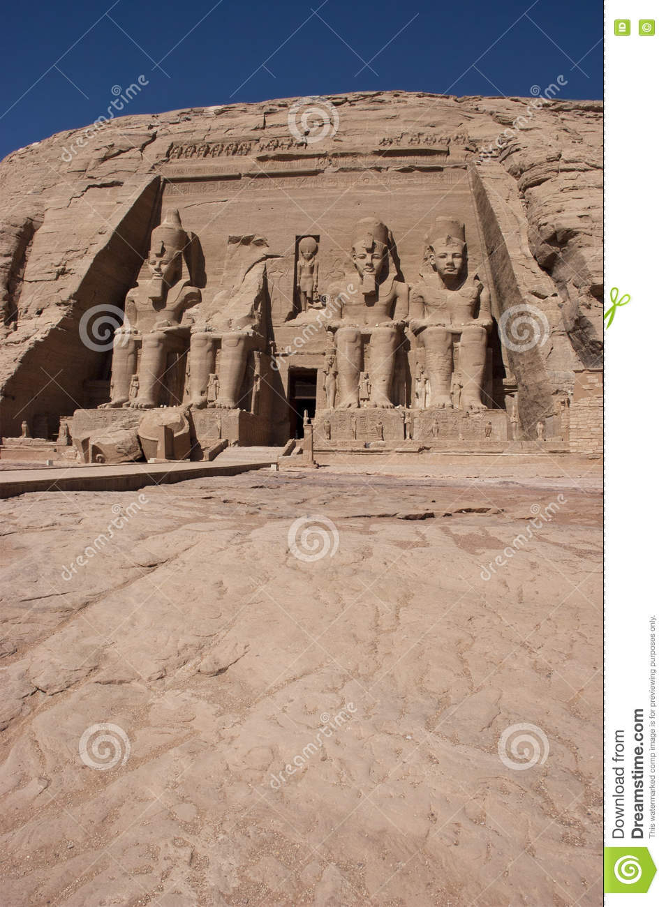 Abu simbel ancient egypt vacation travel stock photo