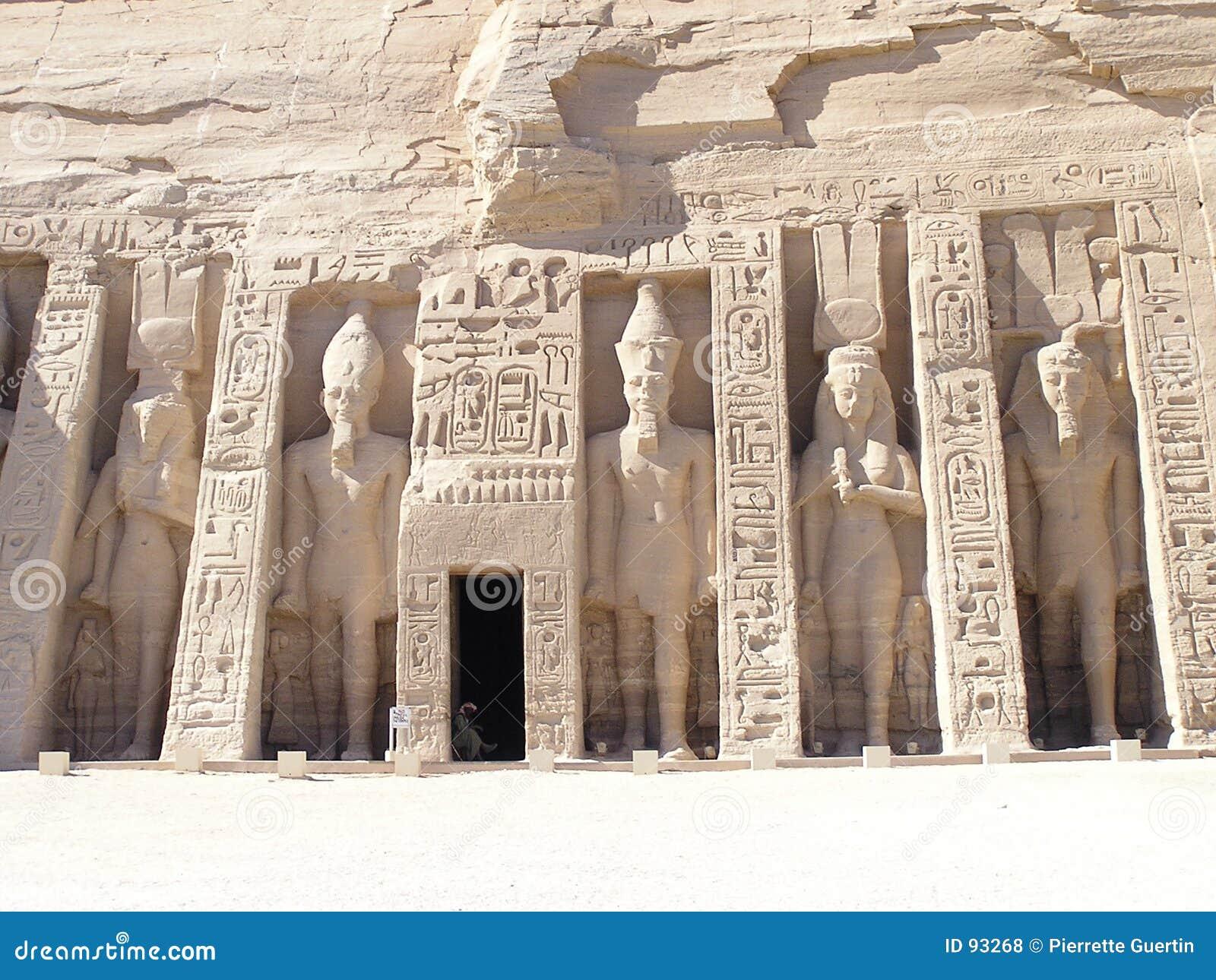 abu simbel temple - nefertari stock photo