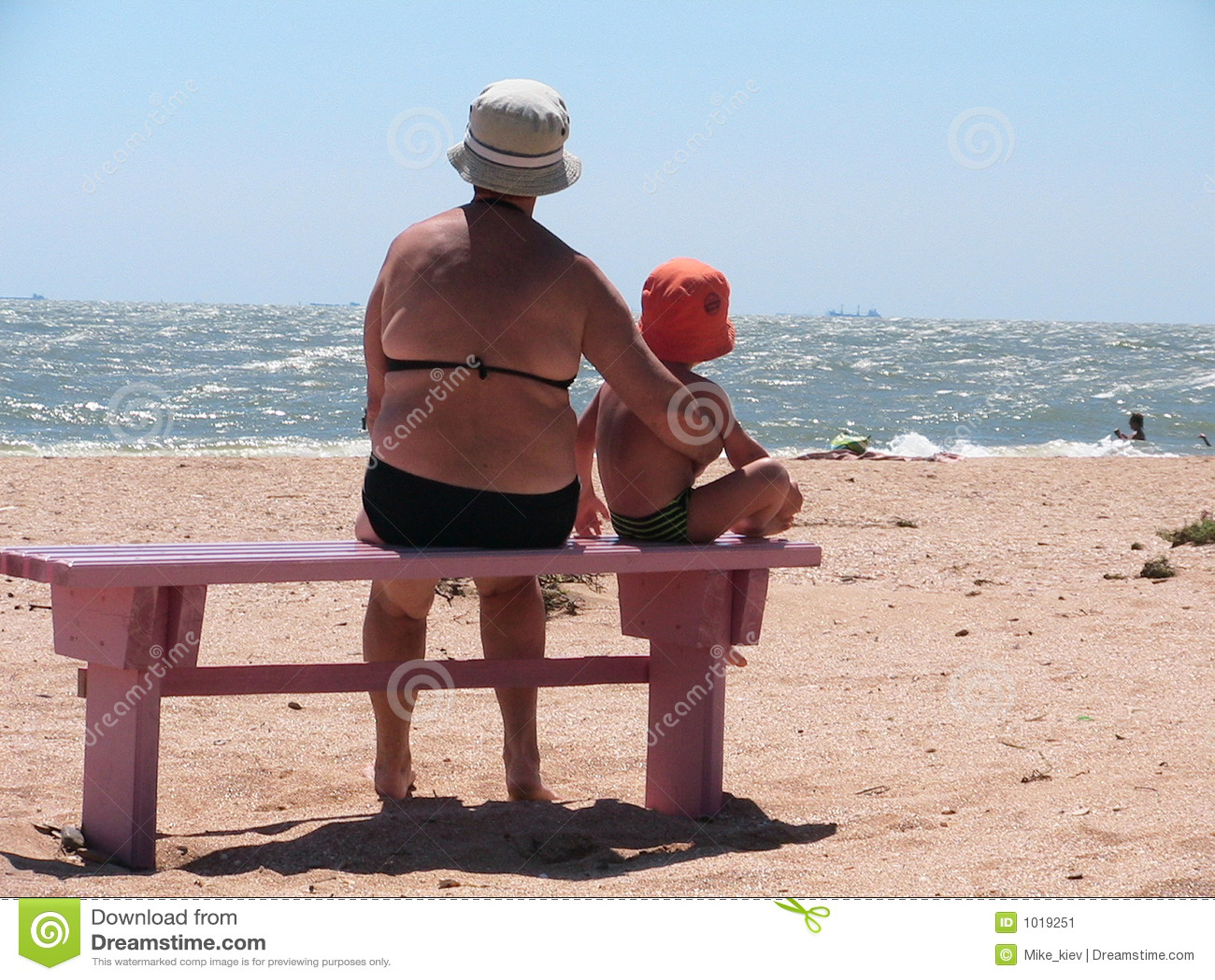 abuela nieto una playa muchacho abuelo que suben abuelas mamonas