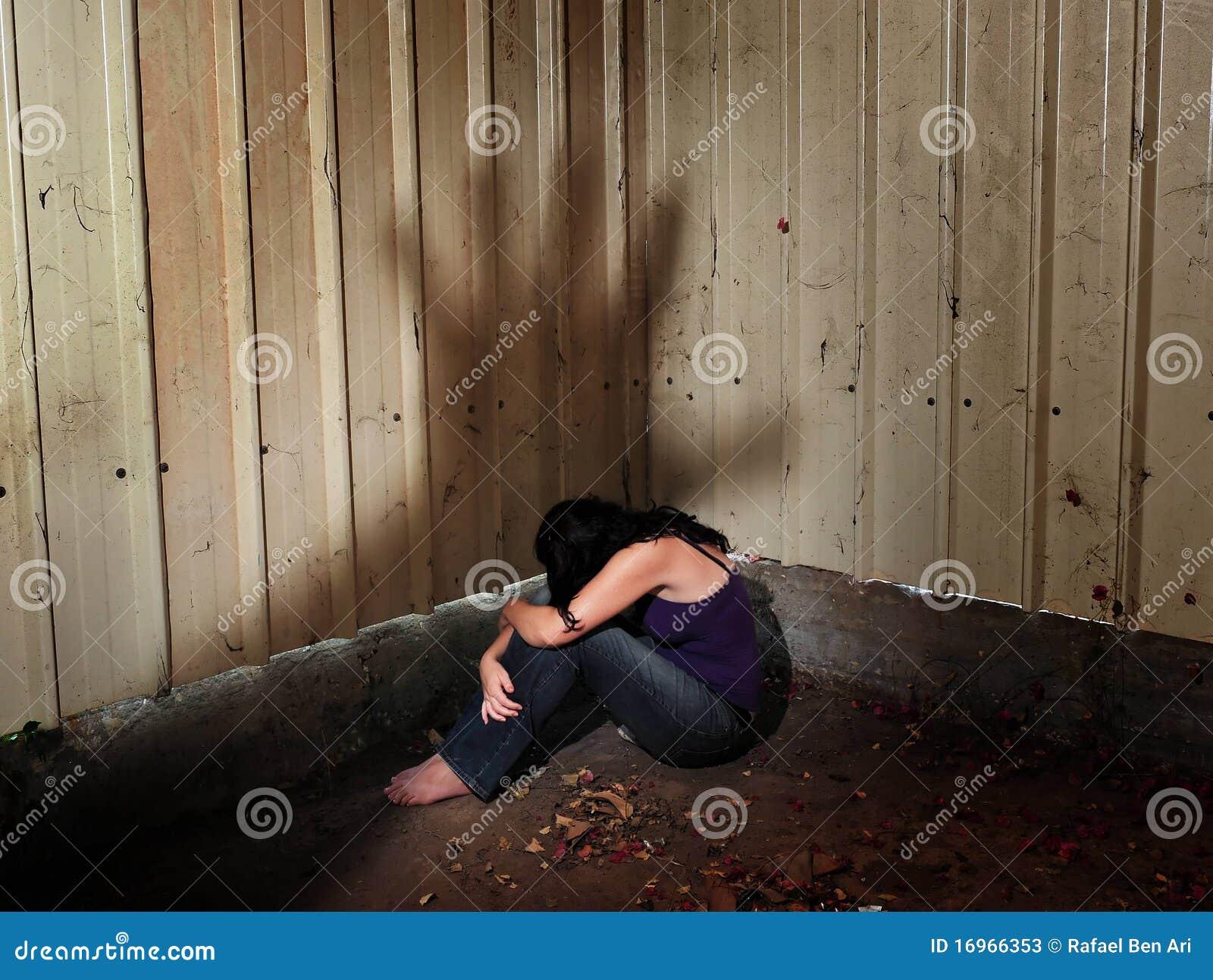 Abused Victim Stock Image Image Of Shadow Life Female